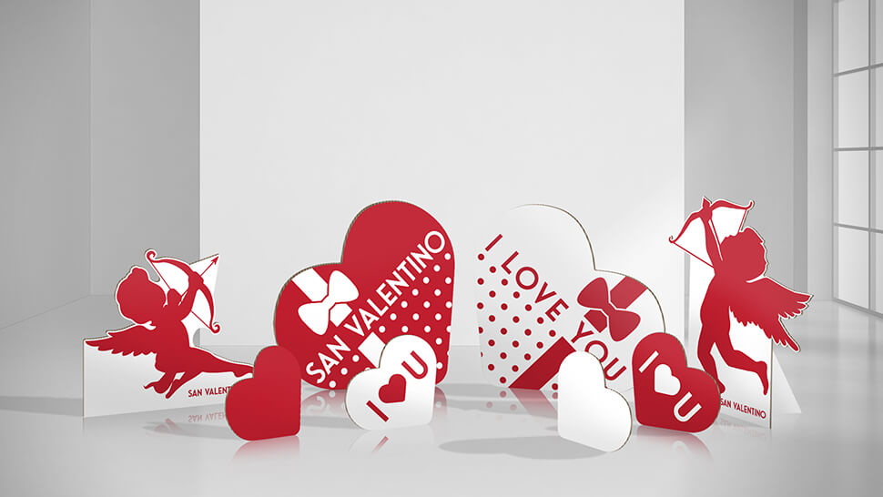 Set sagome per San Valentino | tictac.it