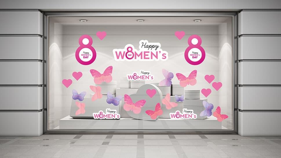 Set adesivi prestampati per la Festa della Donna | tictac.it