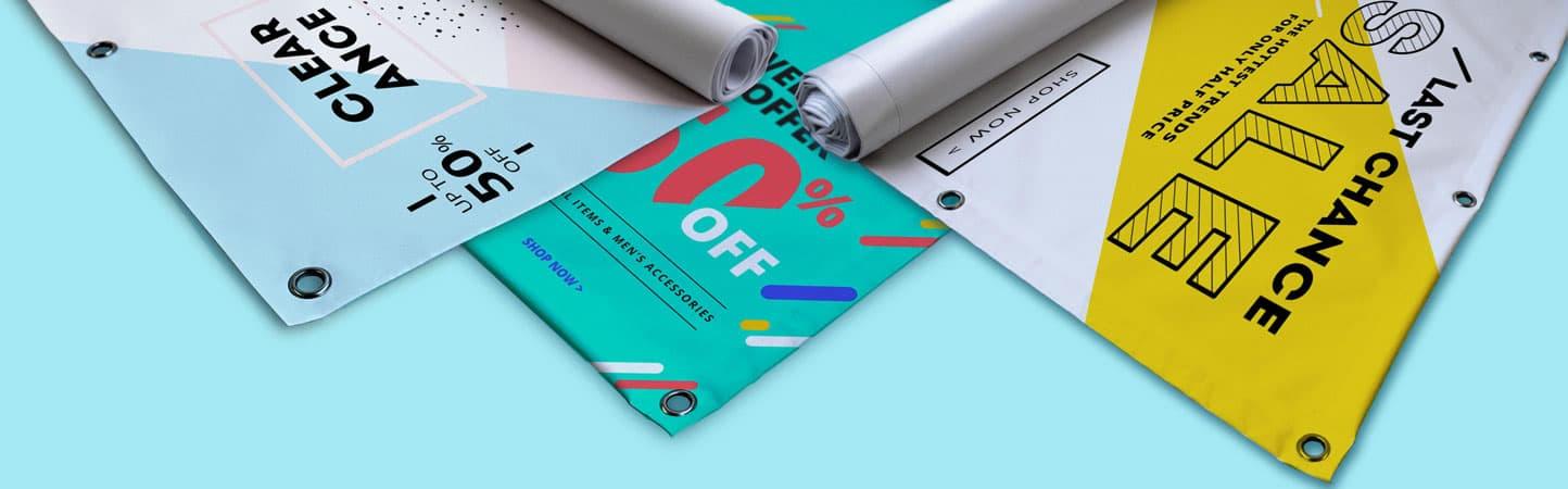 Stampa personalizzata su striscioni in PVC rinforzati o non rinforzati | tictac.it