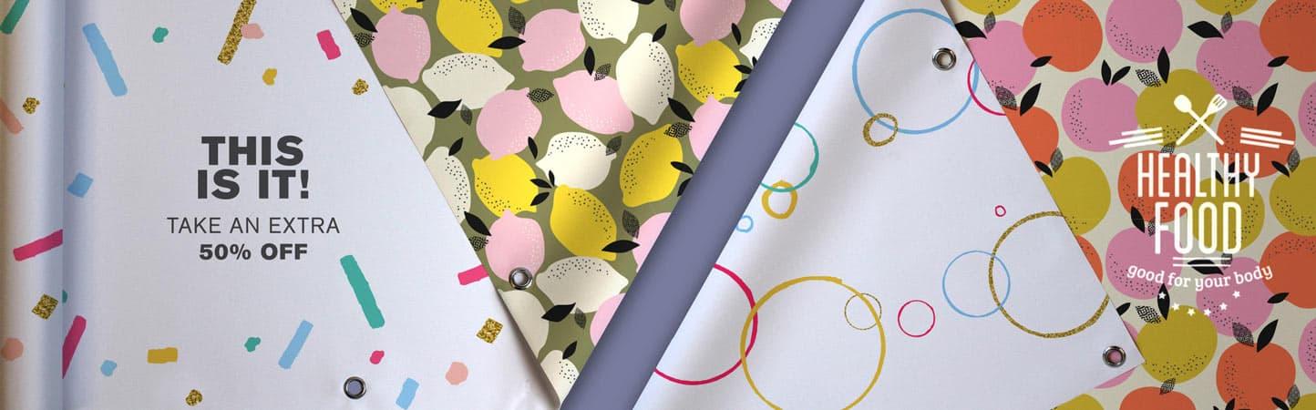 Stampa personalizzabile su striscioni in PVC bifacciali | tictac.it