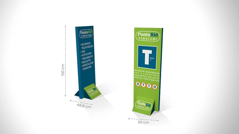 Totem in cartone bifacciale con grafica personalizzata - Praga 2 | tictac.it