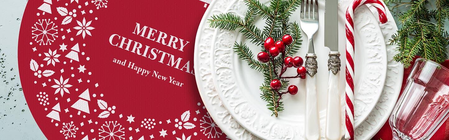 tovagliette e sottobicchieri natalizi per allestimento tavole | tictac.it
