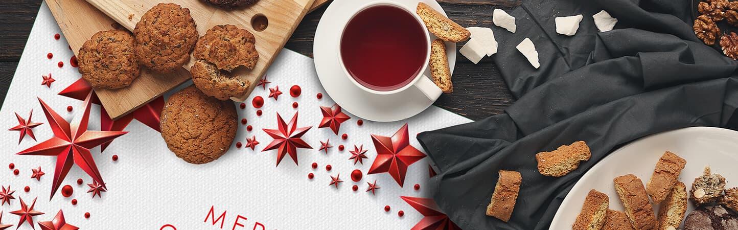 set tovagliette per allestimento tavole Natale | tictac.it