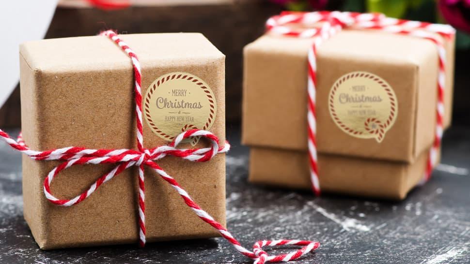 Etichette in carta oro lucida per festività e negozi | tictac.it
