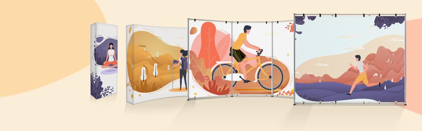 Pareti espositive con grafica personalizzata | tictac.it