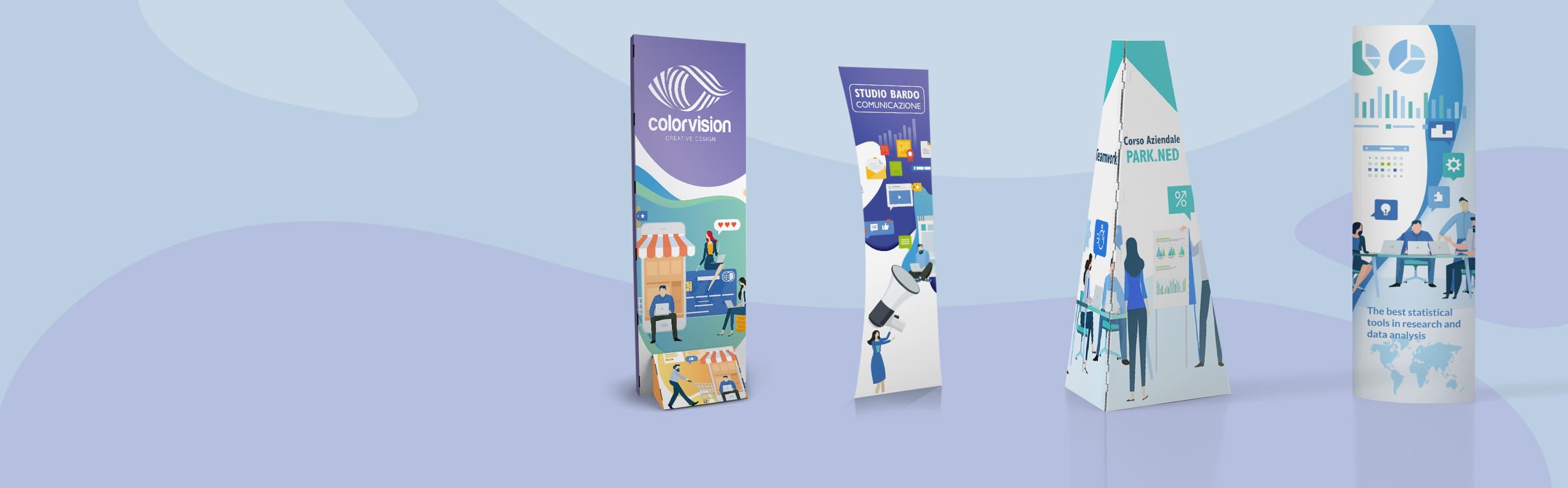 Totem promozionali in cartone personalizzabili | tictac.it