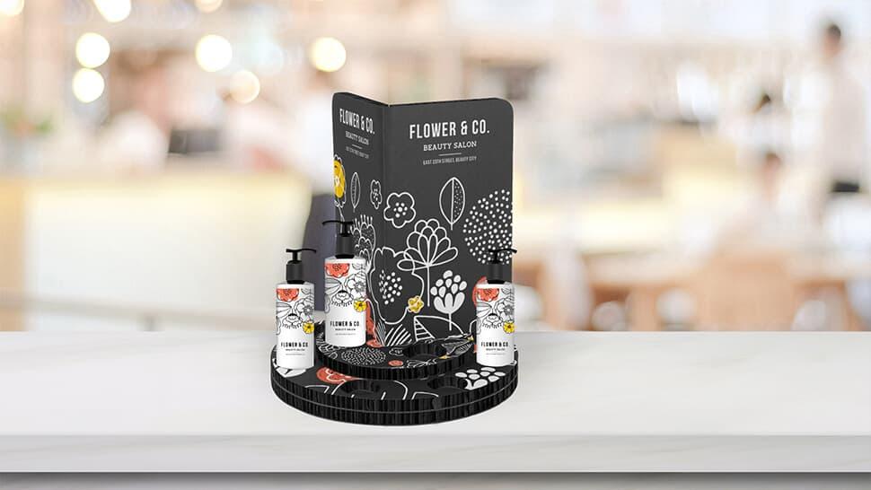 Espositore Coco  nero ideale per prodotti per la cura personale| tictac.it
