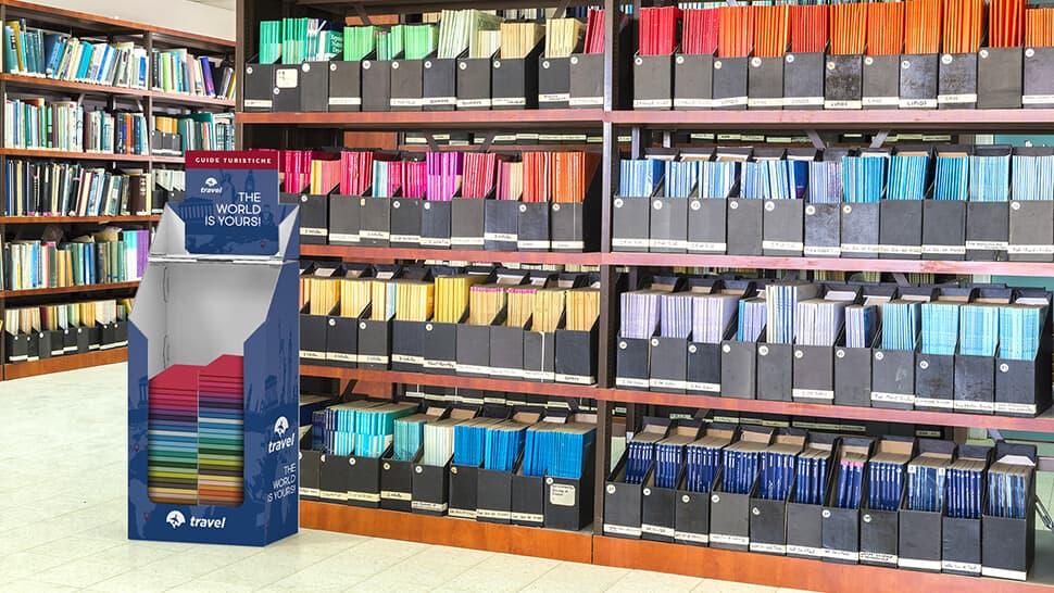 Contenitore in cartone per punti vendita, cartolerie e librerie | tictac.it