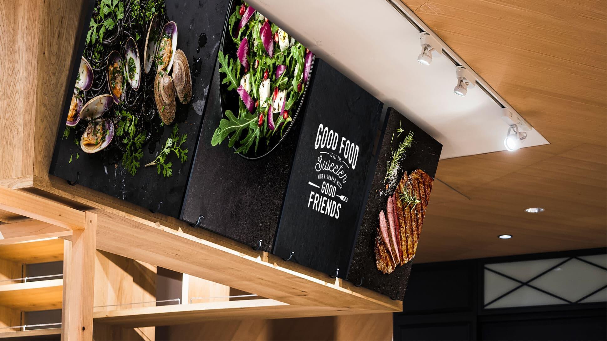 Pannelli in sandwich con bordatura nera per ristoranti | tictac.it