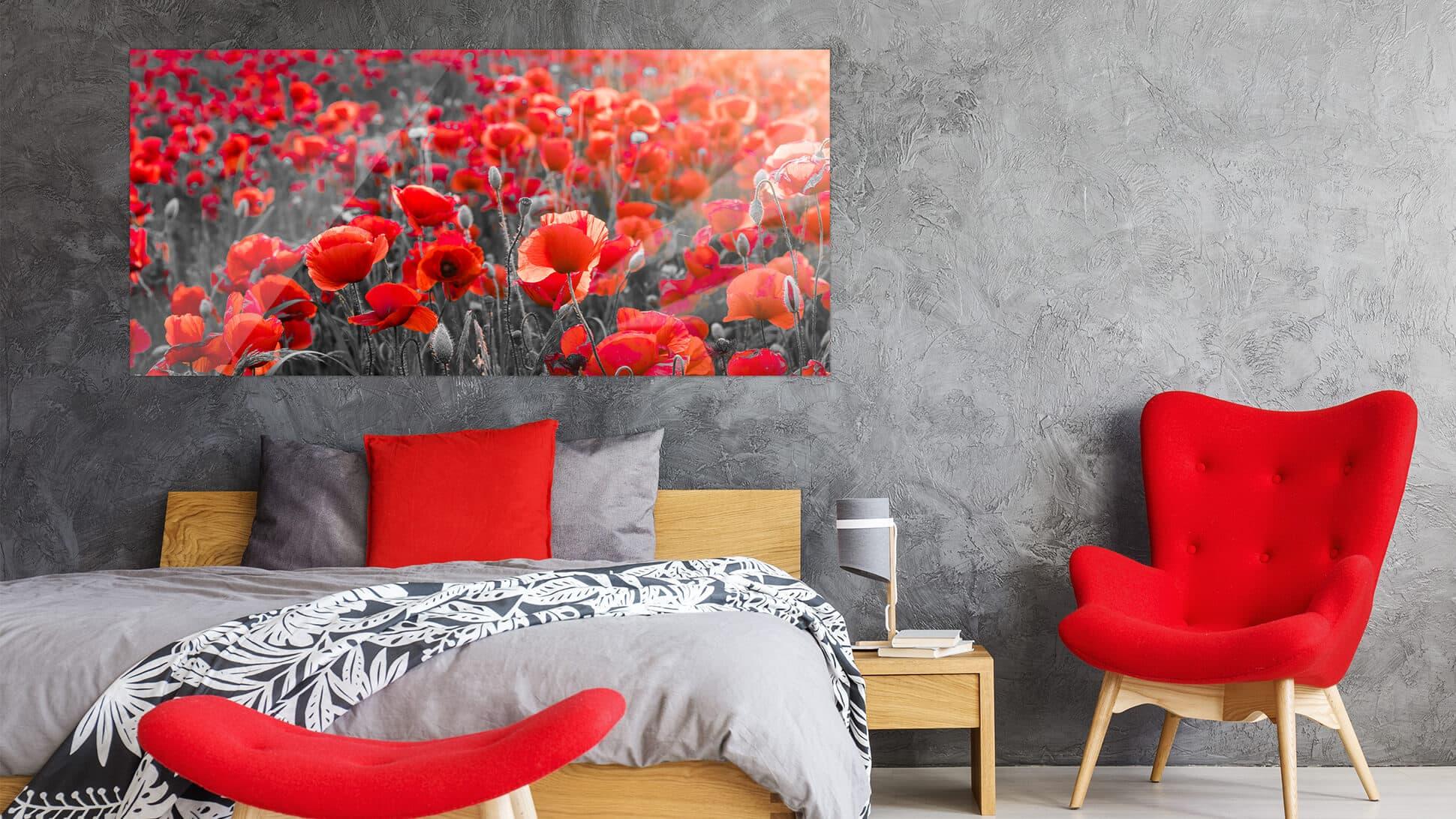 Stampa di foto su vetro acrilico f.to 70x150 grafica personalizzata | tictac.it