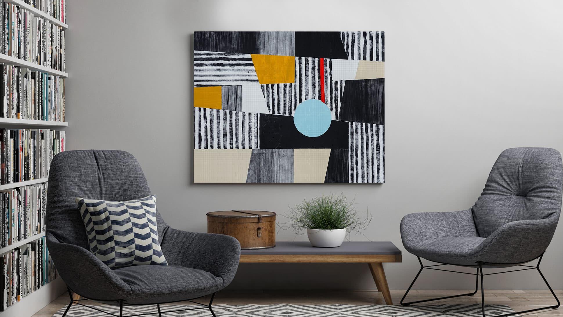 Stampa personalizzabile su tessuto per quadri soggiorno | tictac.it