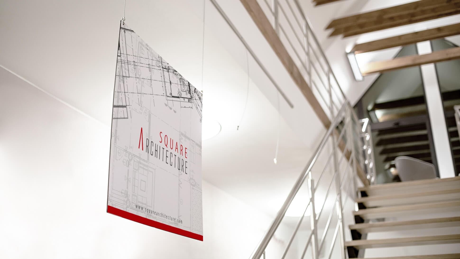 Pannello in Allubond 3mm con stampa bifacciale per studi e uffici | tictac.it