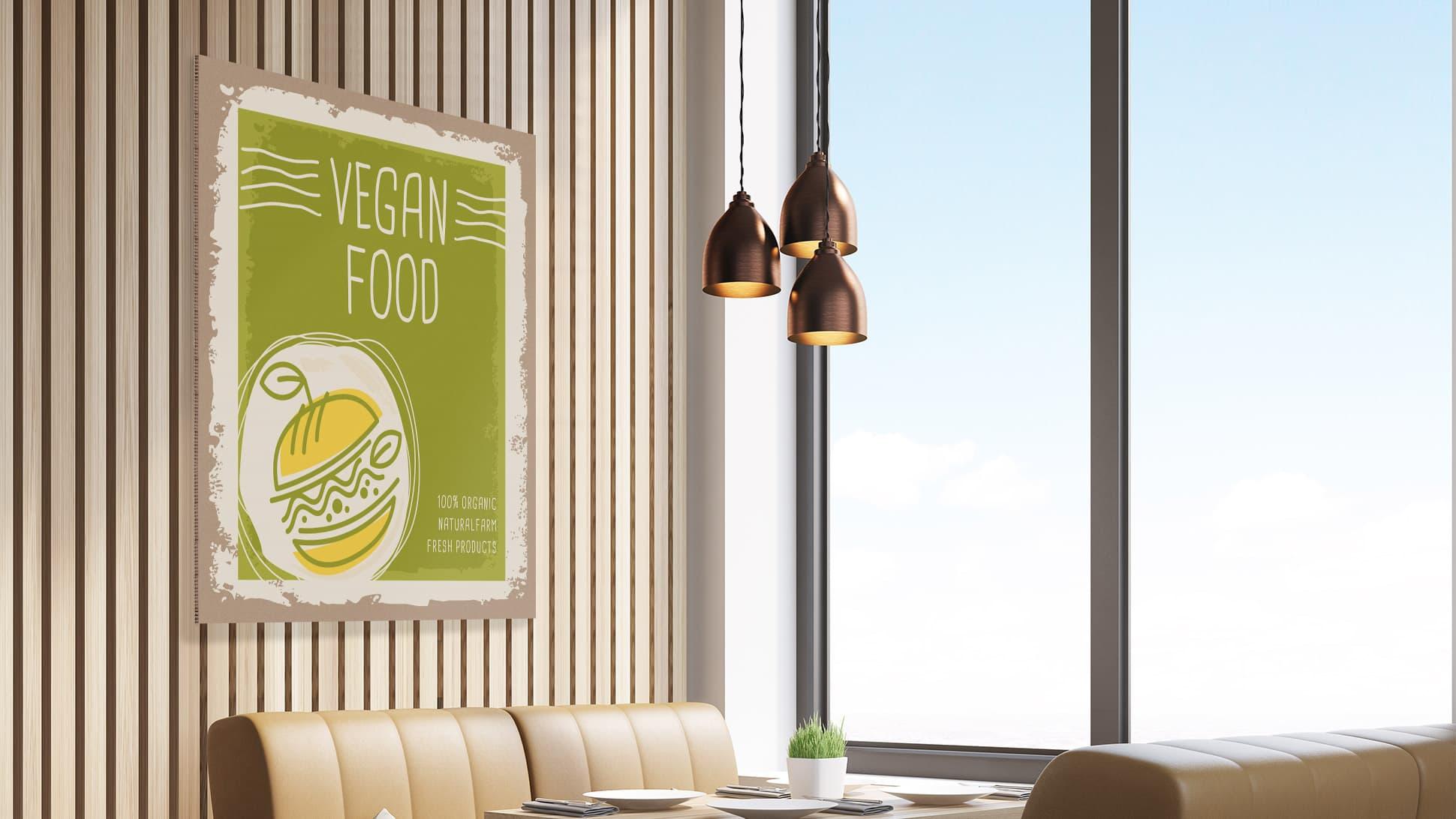 Stampa ristorante su pannello in Nidoboard 16 mm avana | tictac.it
