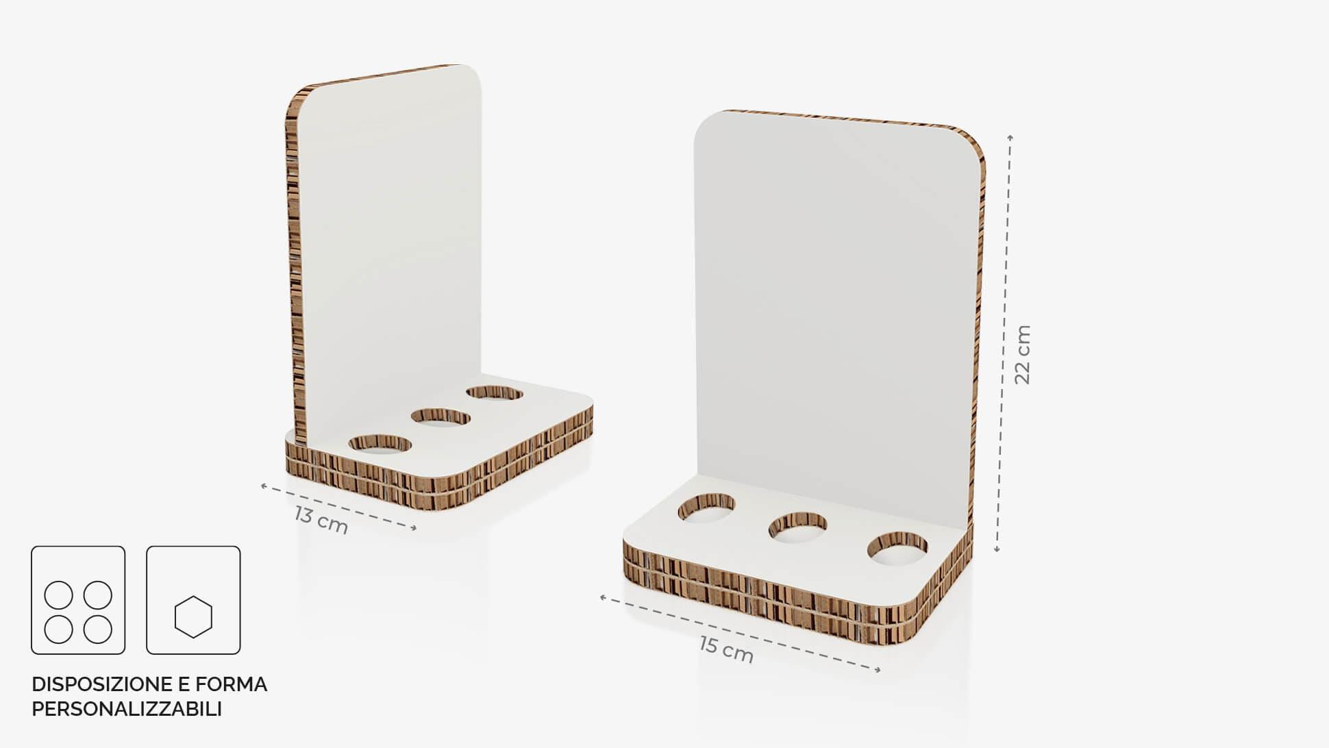 Display da banco in cartone alveolare 15x22 cm - grafica personalizzata | tictac.it