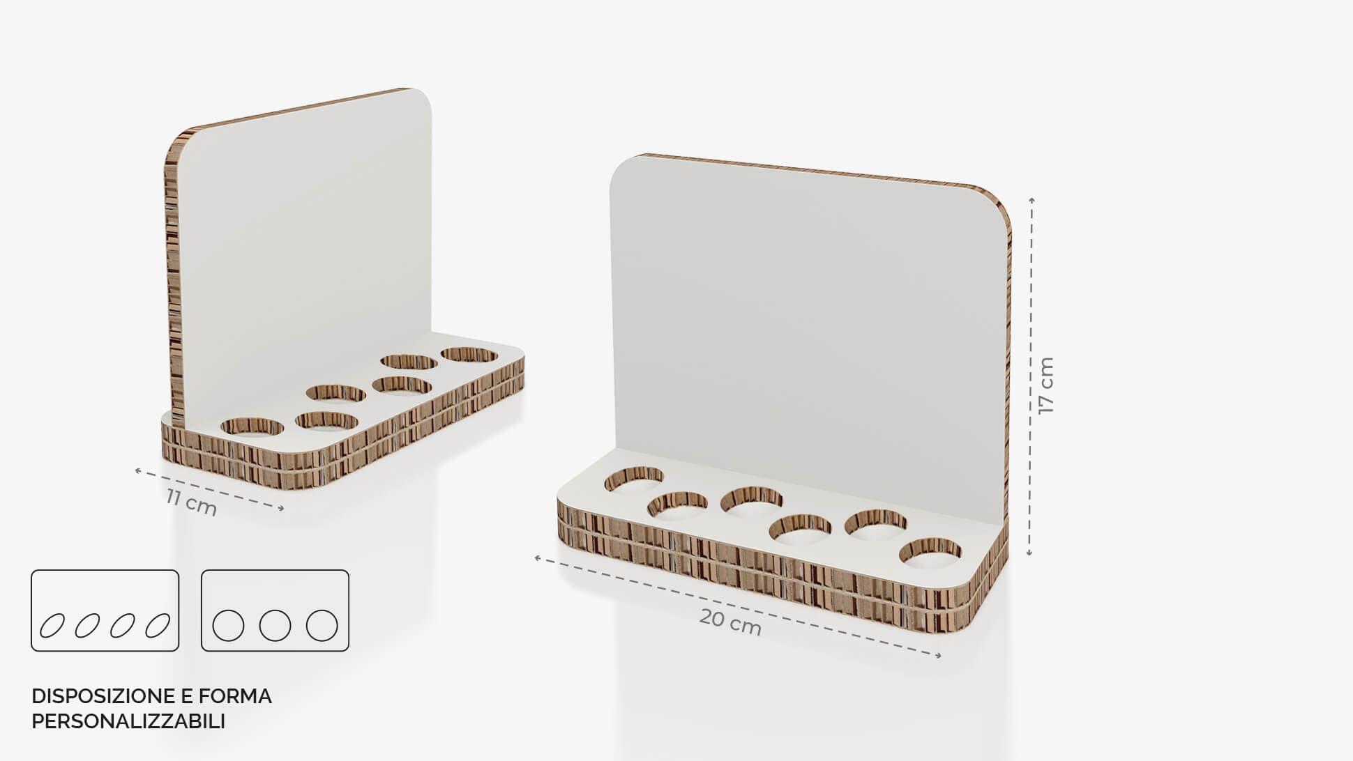 Display da banco in cartone alveolare 20x17 cm - grafica personalizzata | tictac.it