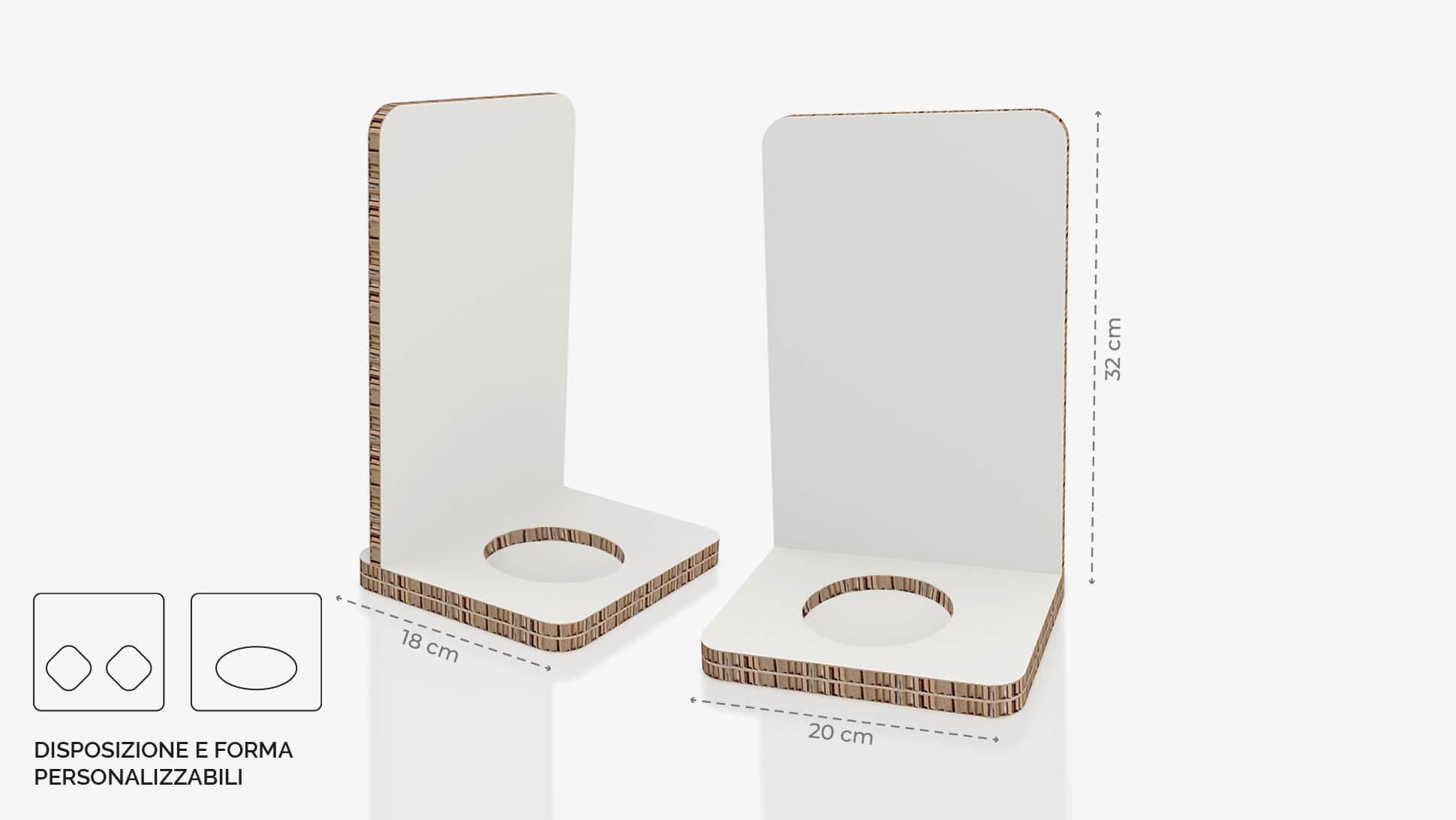 Display da banco in cartone alveolare 20x32 cm - grafica personalizzata   tictac.it