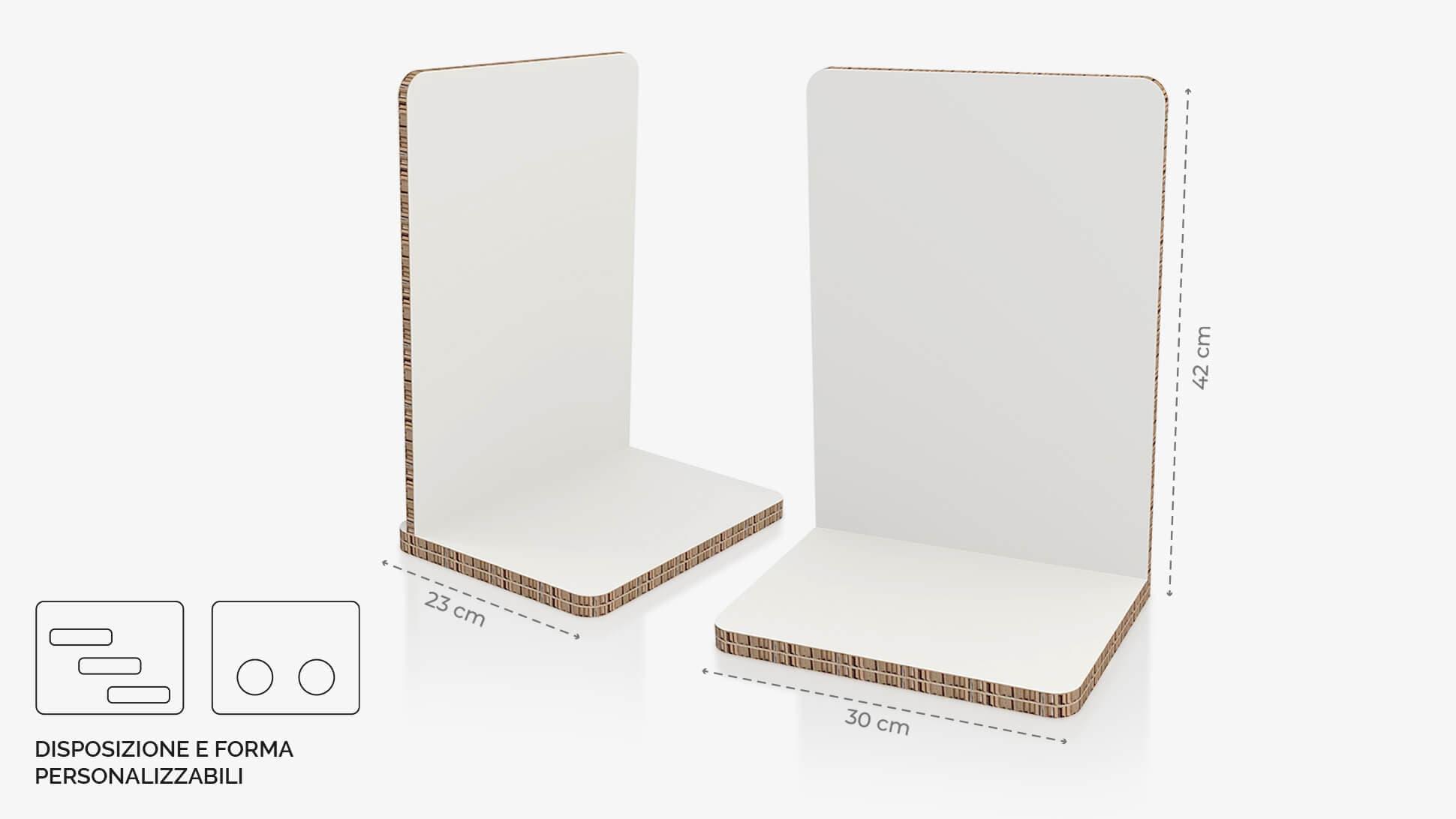 Display da banco in cartone alveolare 30x42 cm - grafica personalizzata   tictac.it