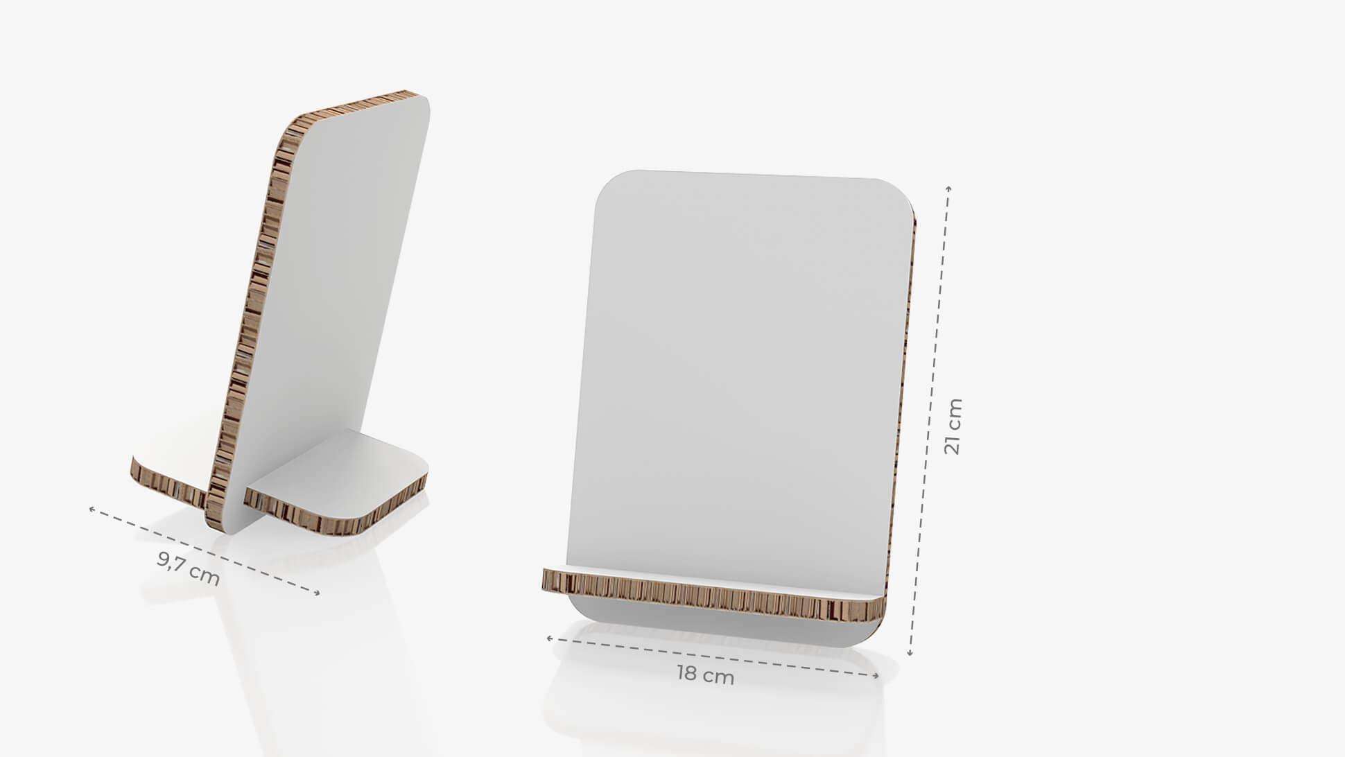 Display da banco inclinato 14,8x21 cm personalizzabile | tictac.it