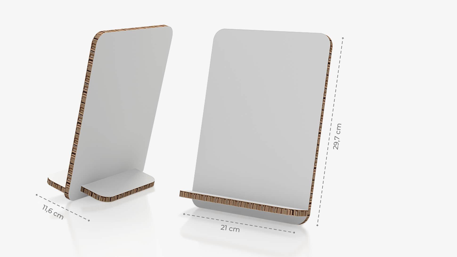 Display da banco inclinato 21x29,7 cm personalizzabile | tictac.it