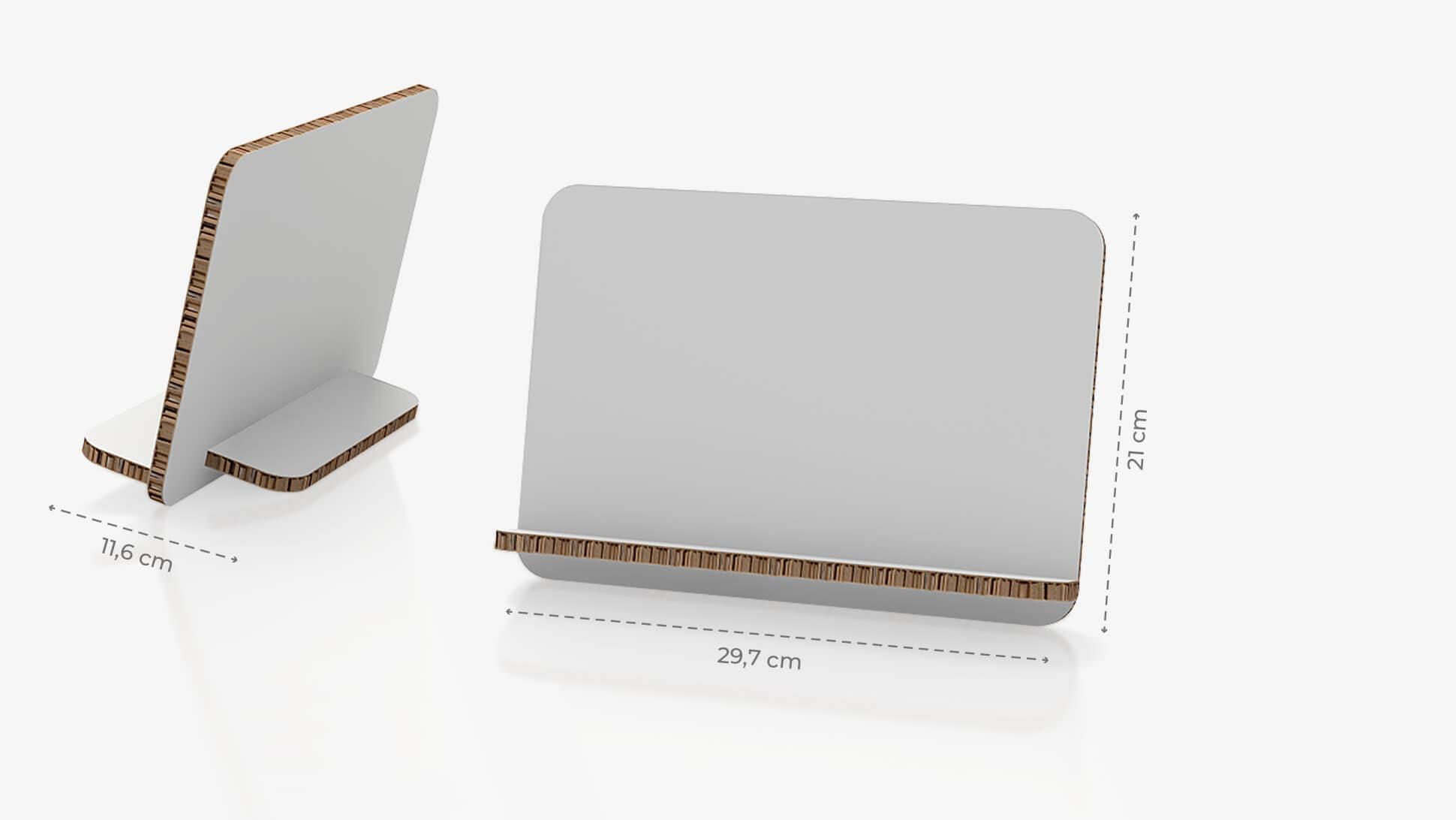 Display da banco inclinato 29,7x21 cm personalizzabile | tictac.it