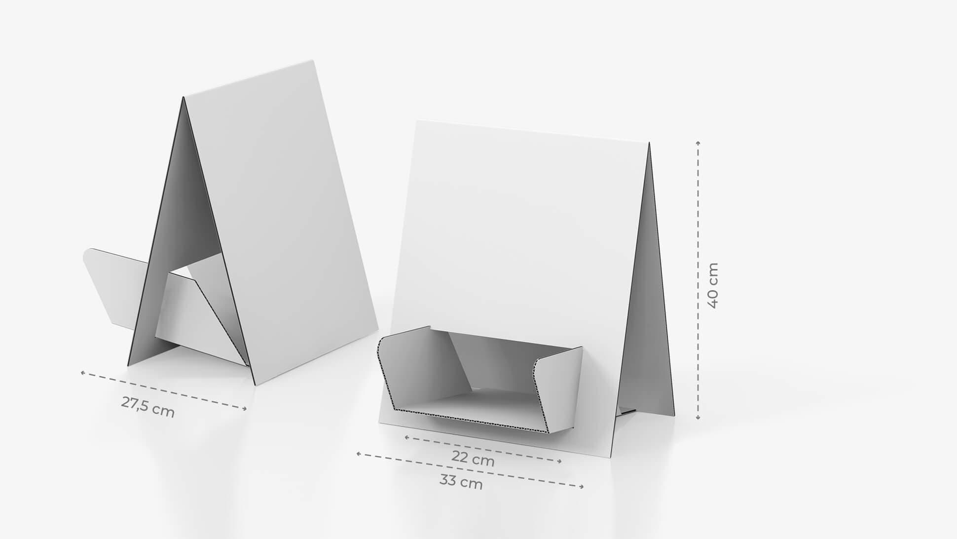 Portadepliant da tavolo bifacciale con grafica personalizzata | tictac.it