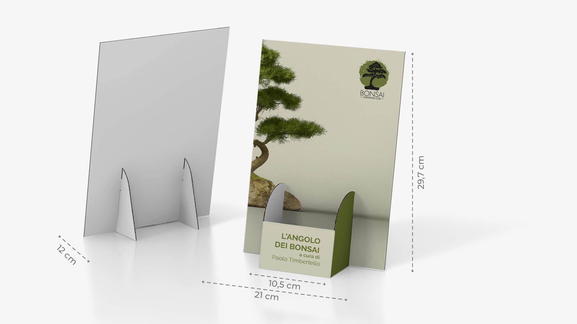 Porta volantini Basic in cartone con tasca al centro | tictac.it