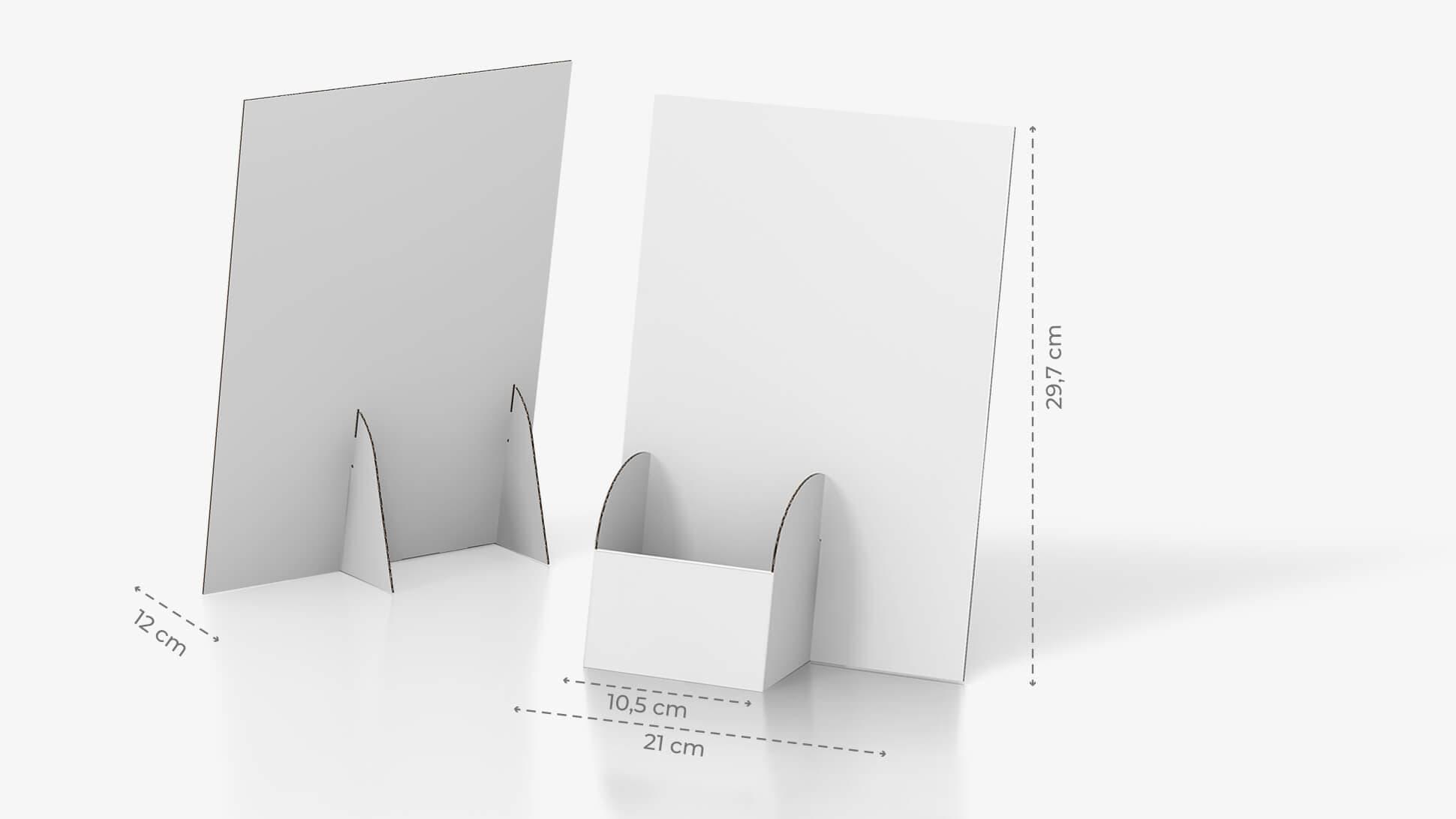 Porta volantini Basic in cartone con tasca a sinistra   tictac.it
