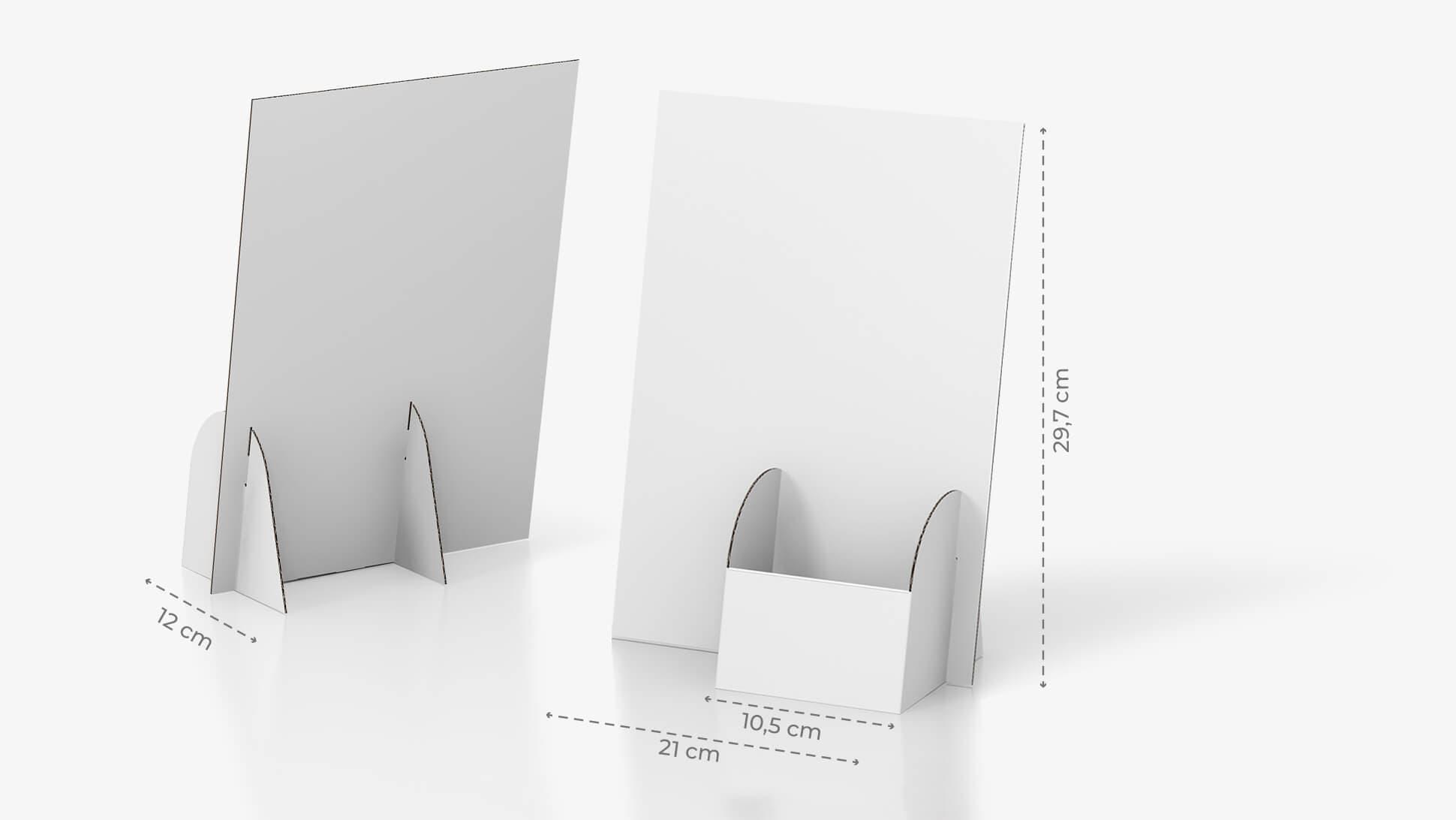 Porta volantini Basic in cartone con tasca a destra | tictac.it