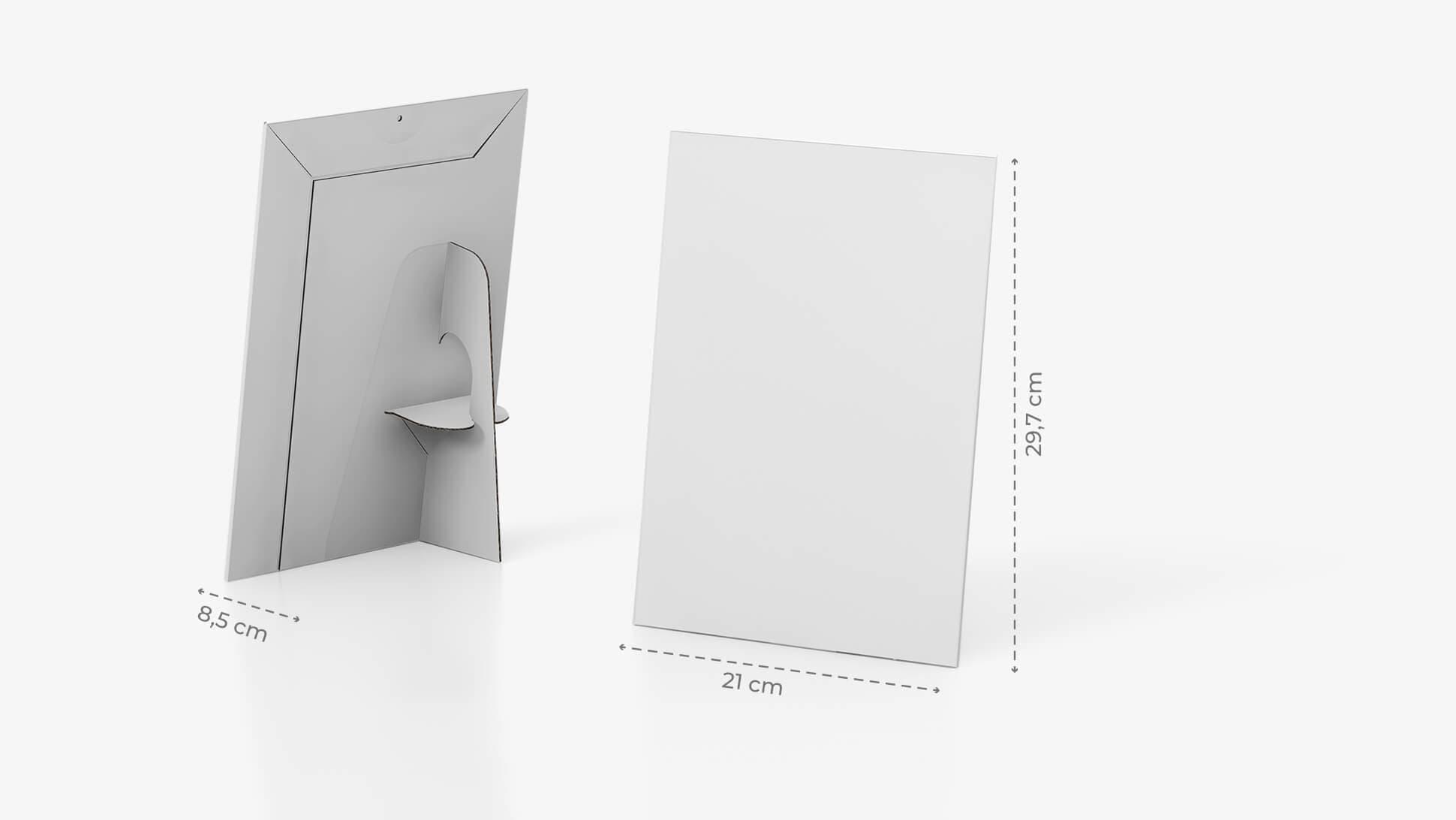 Display monofacciale A4 con grafica personalizzata | tictac.it