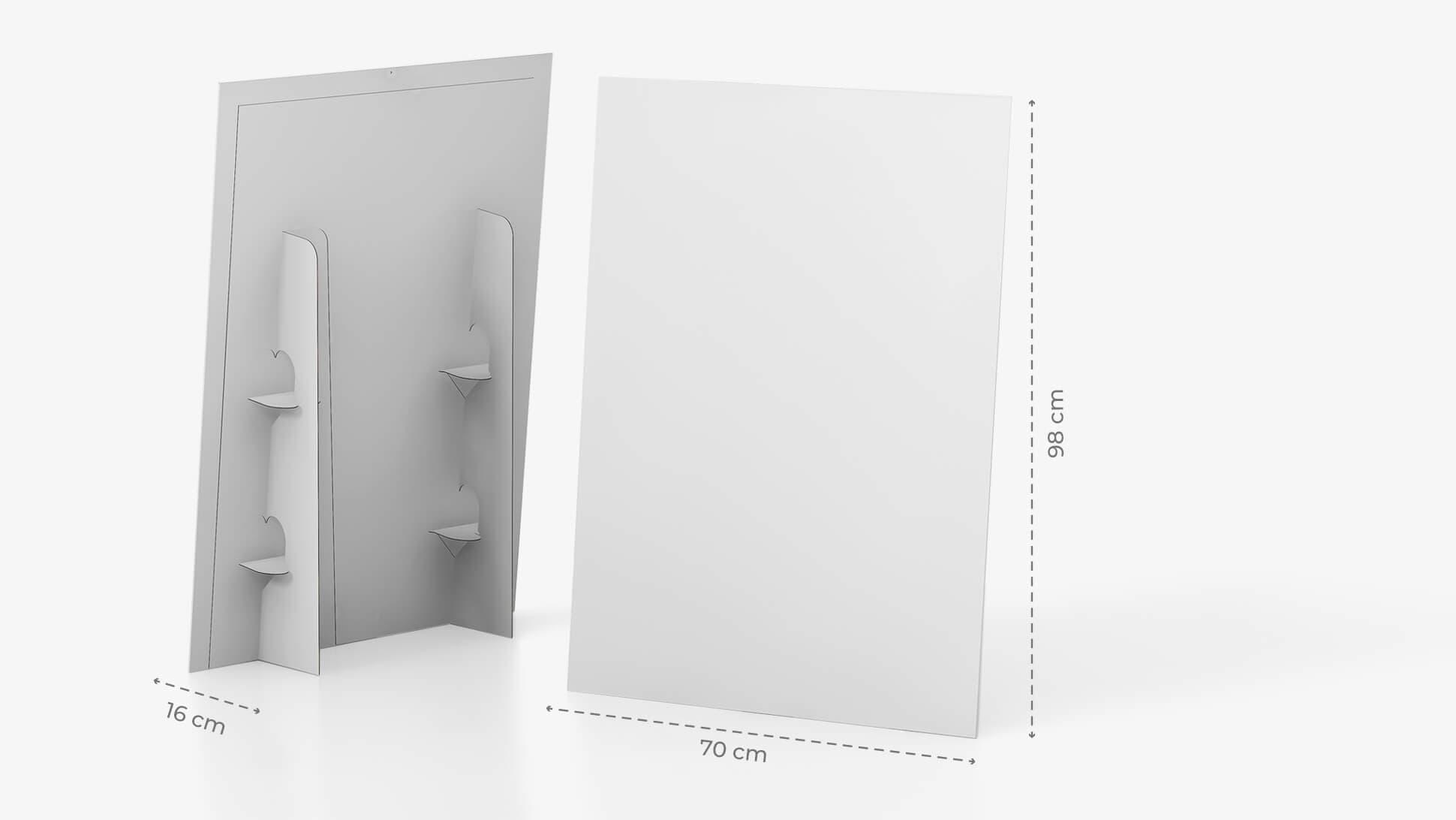 Display monofacciale orizzontale 21x29,7 cm con grafica personalizzata | tictac.it