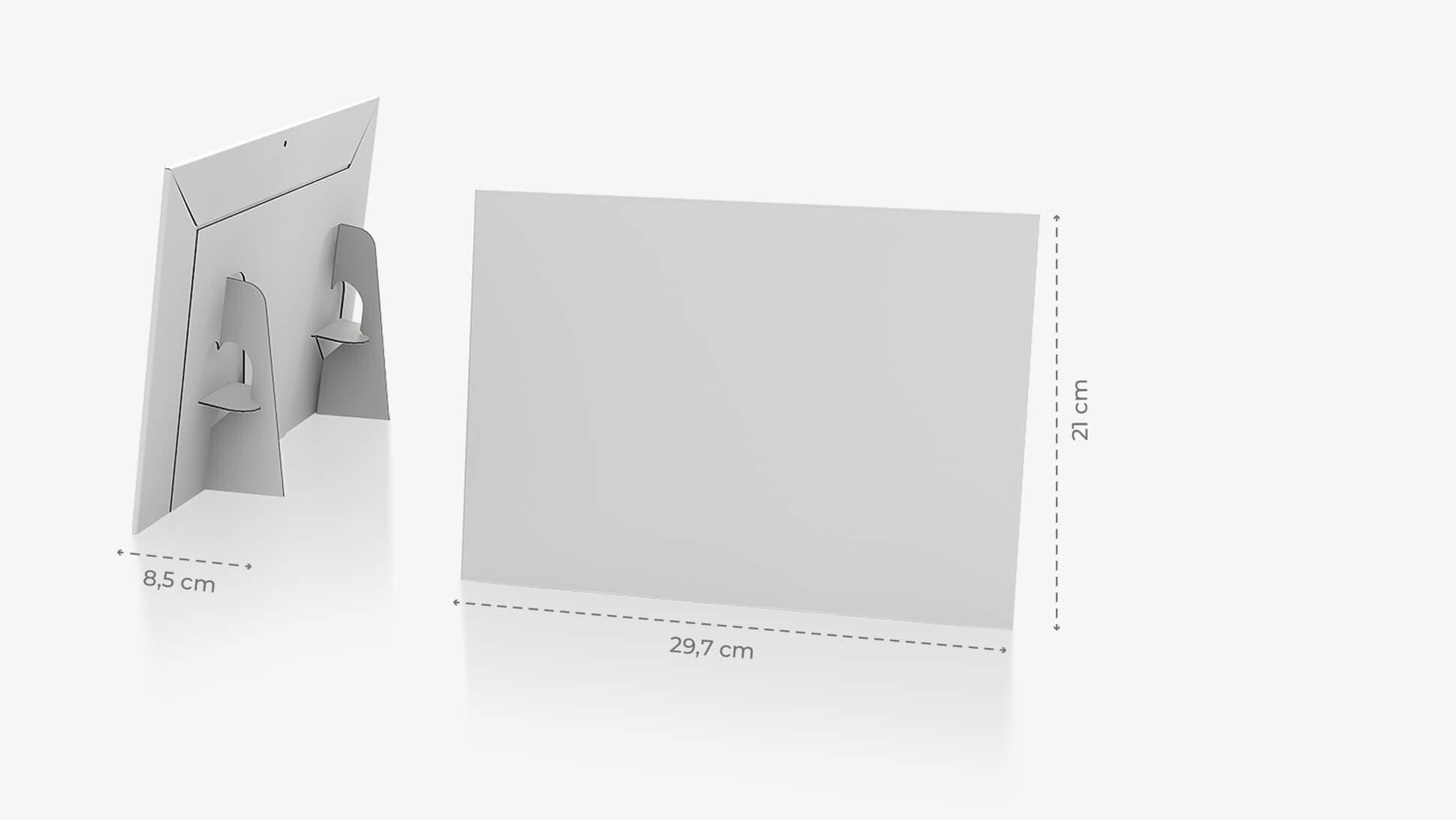 Display monofacciale orizzontale 29,7x42 cm con grafica personalizzata | tictac.it