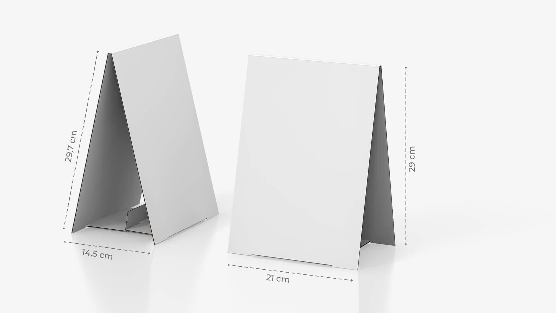 Display bifacciale da banco 21x29,7 cm personalizzabile | tictac.it