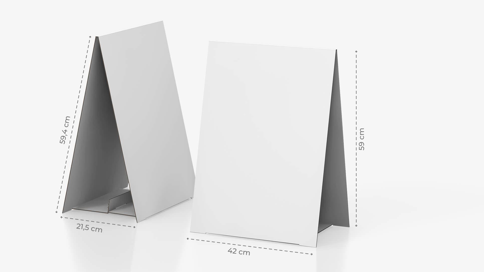 Display bifacciale da banco 59,4x42 cm personalizzabile | tictac.it