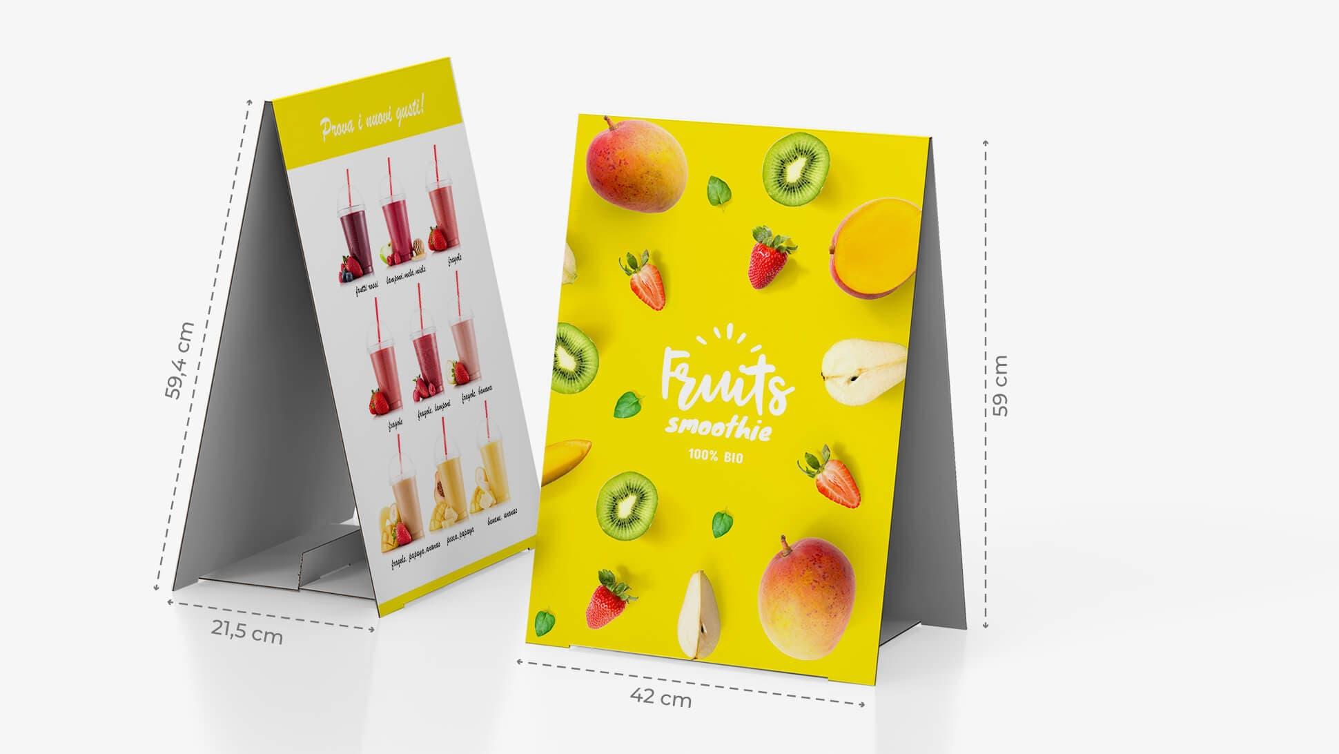 Display bifacciale da banco 59,4x42 cm con grafica dolci | tictac.it