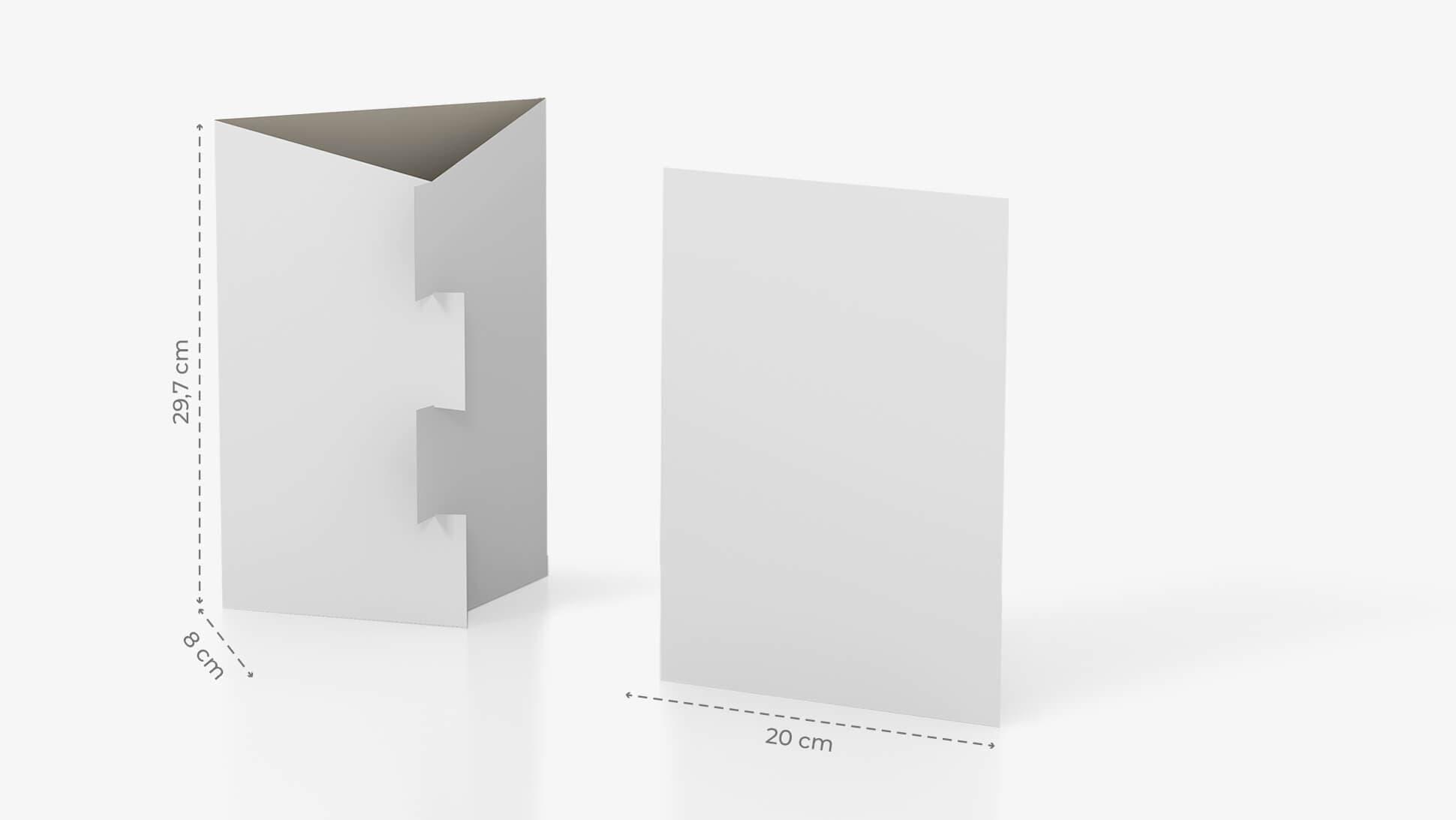 Espositore da banco A4 con incastro e grafica personalizzabile | tictac.it