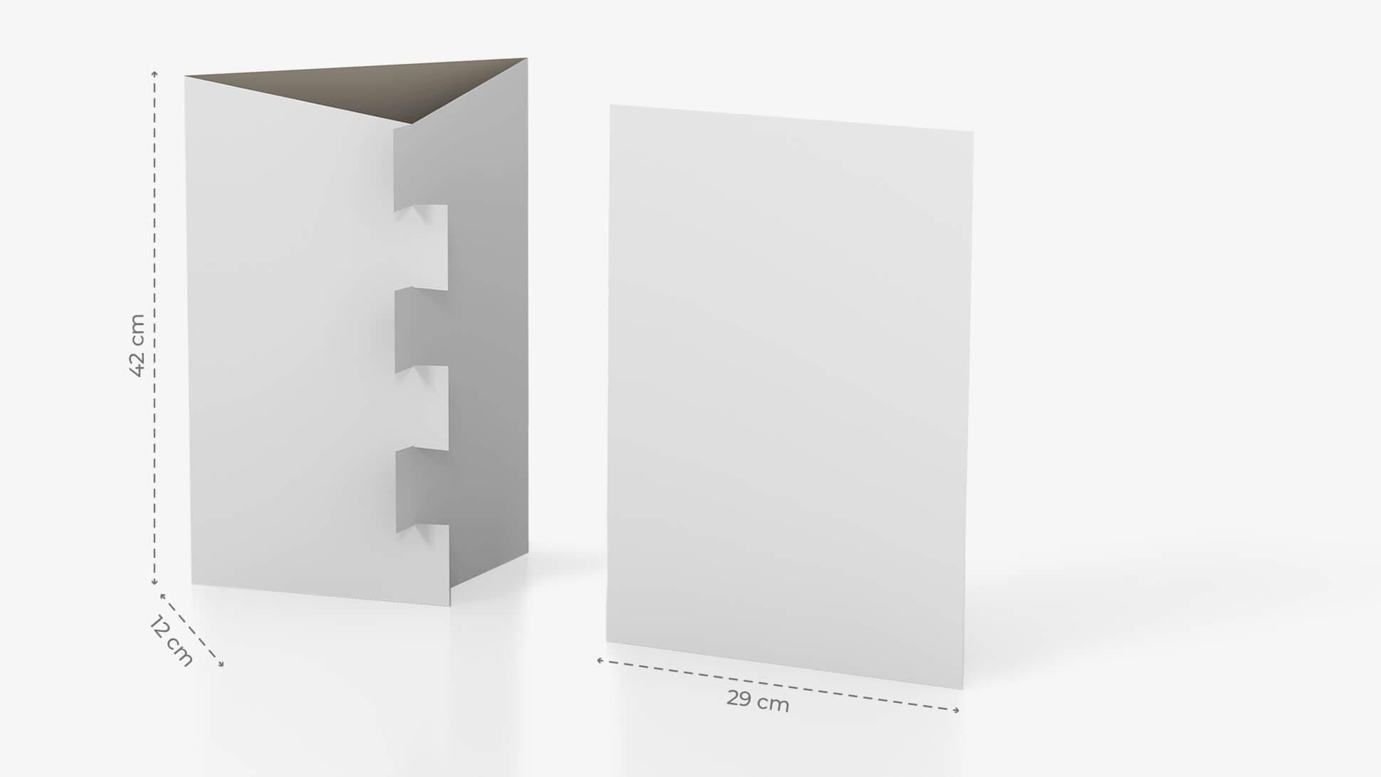 Espositore da banco A3 con incastro e grafica personalizzabile | tictac.it