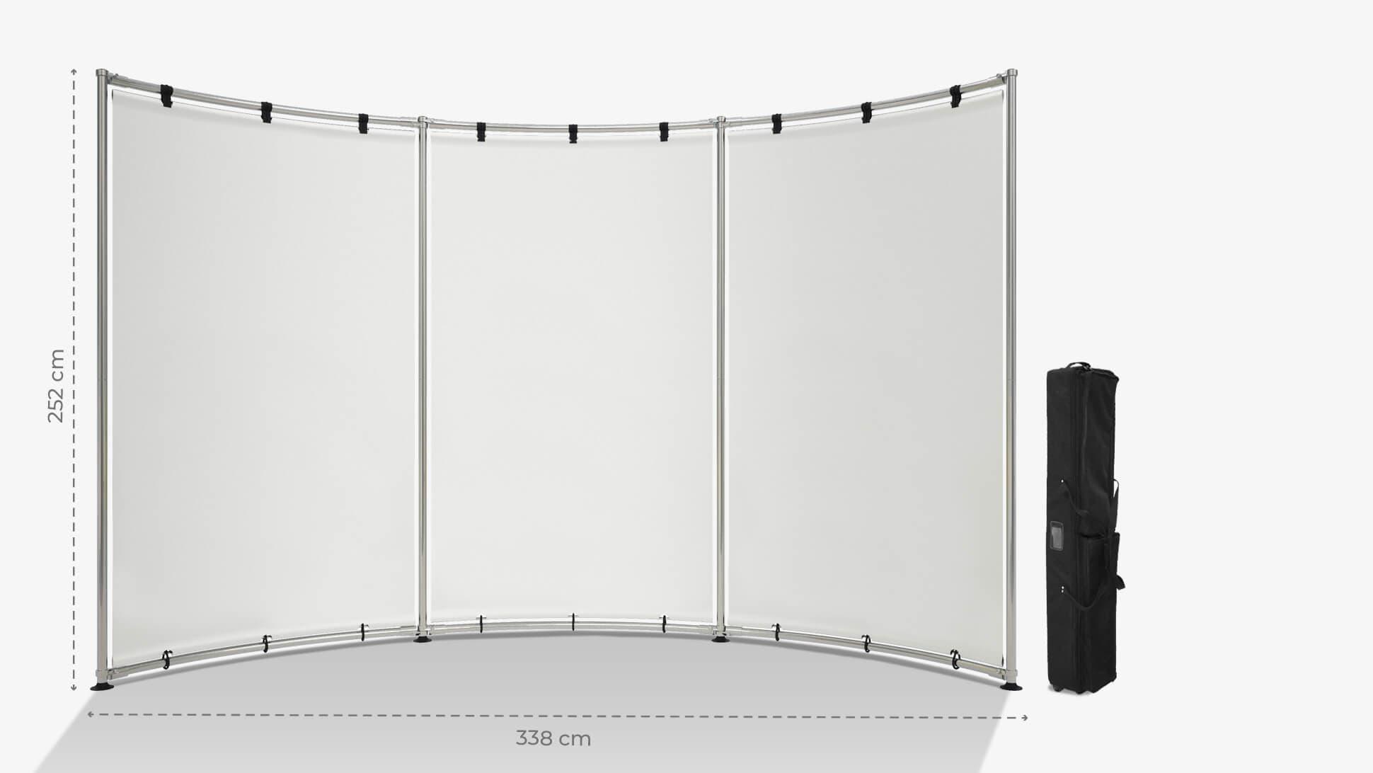 Parete espositiva a onda 252x345 cm | tictac.it