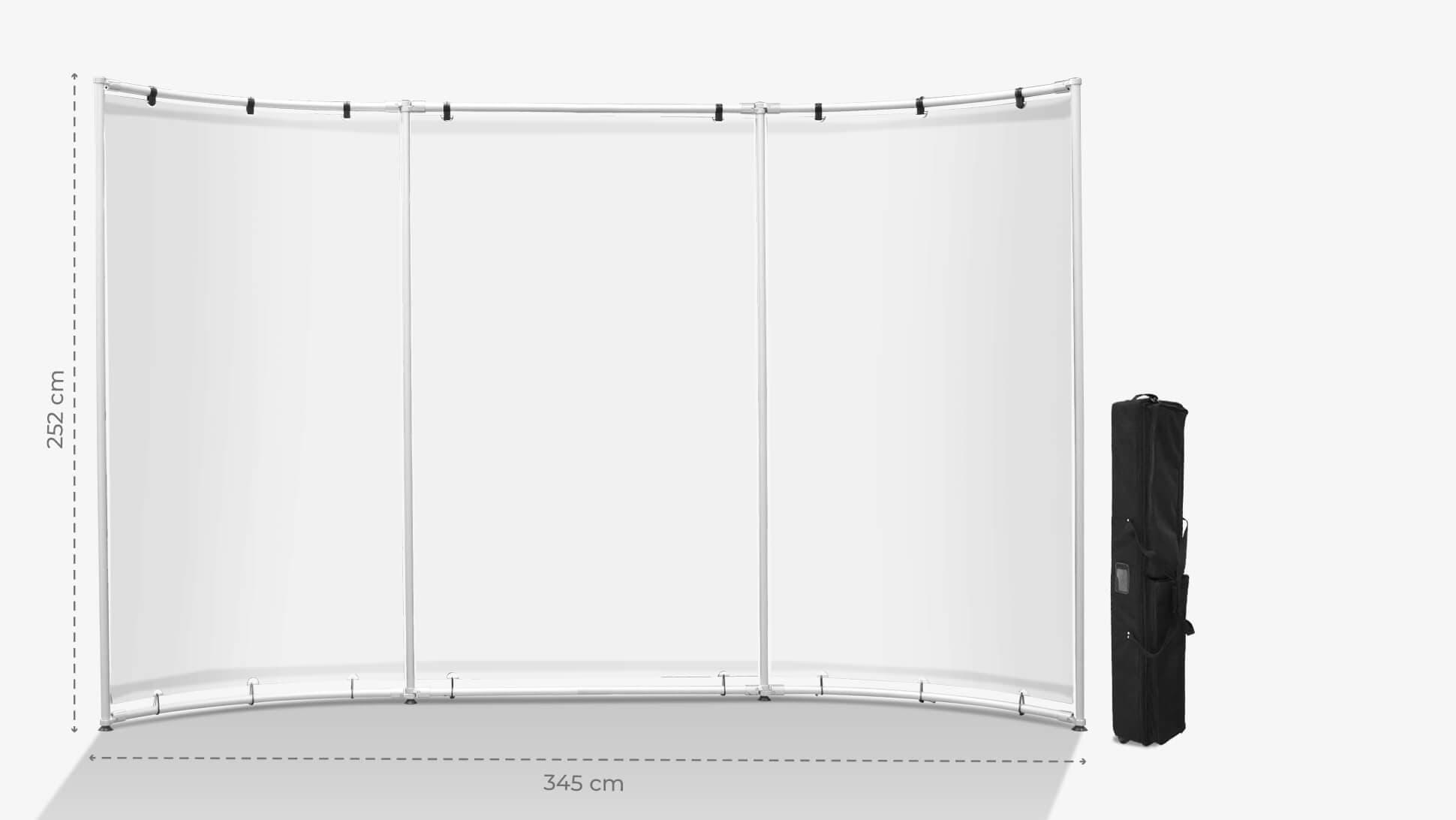 Parete espositiva 202x635 cm personalizzabile | tictac.it