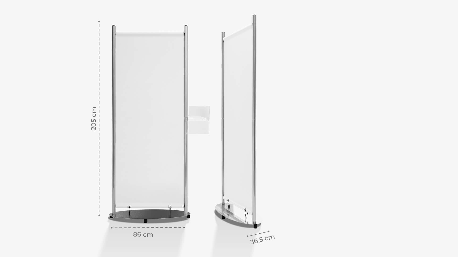 Display rigido personalizzabile 205x86 cm | tictac.it