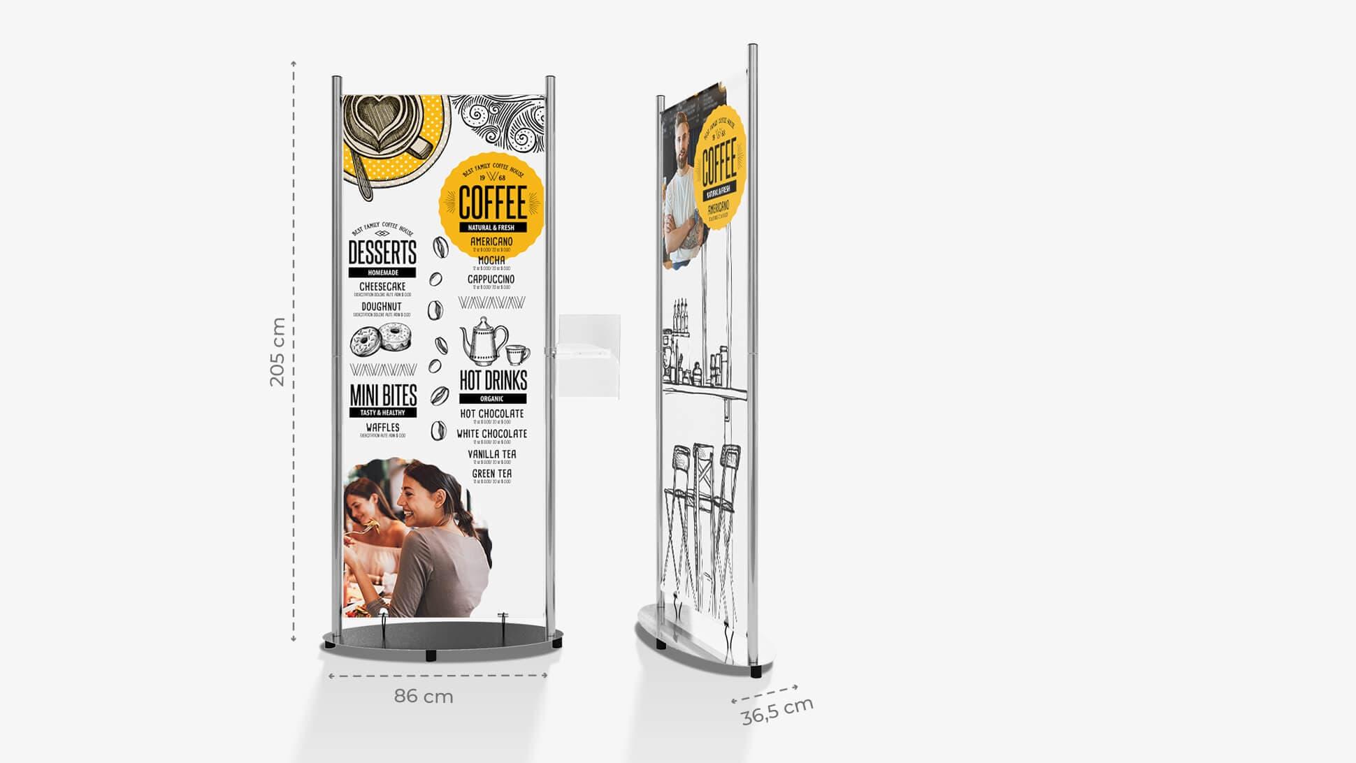 Display rigido 205x86 cm personalizzato  | tictac.it