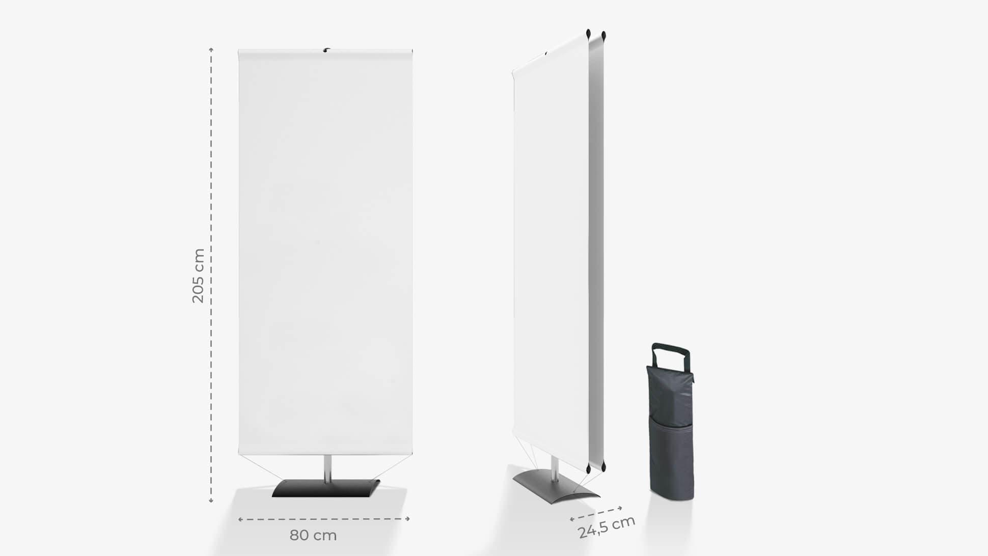 Display avvolgibile 205x80 cm personalizzabile | tictac.it