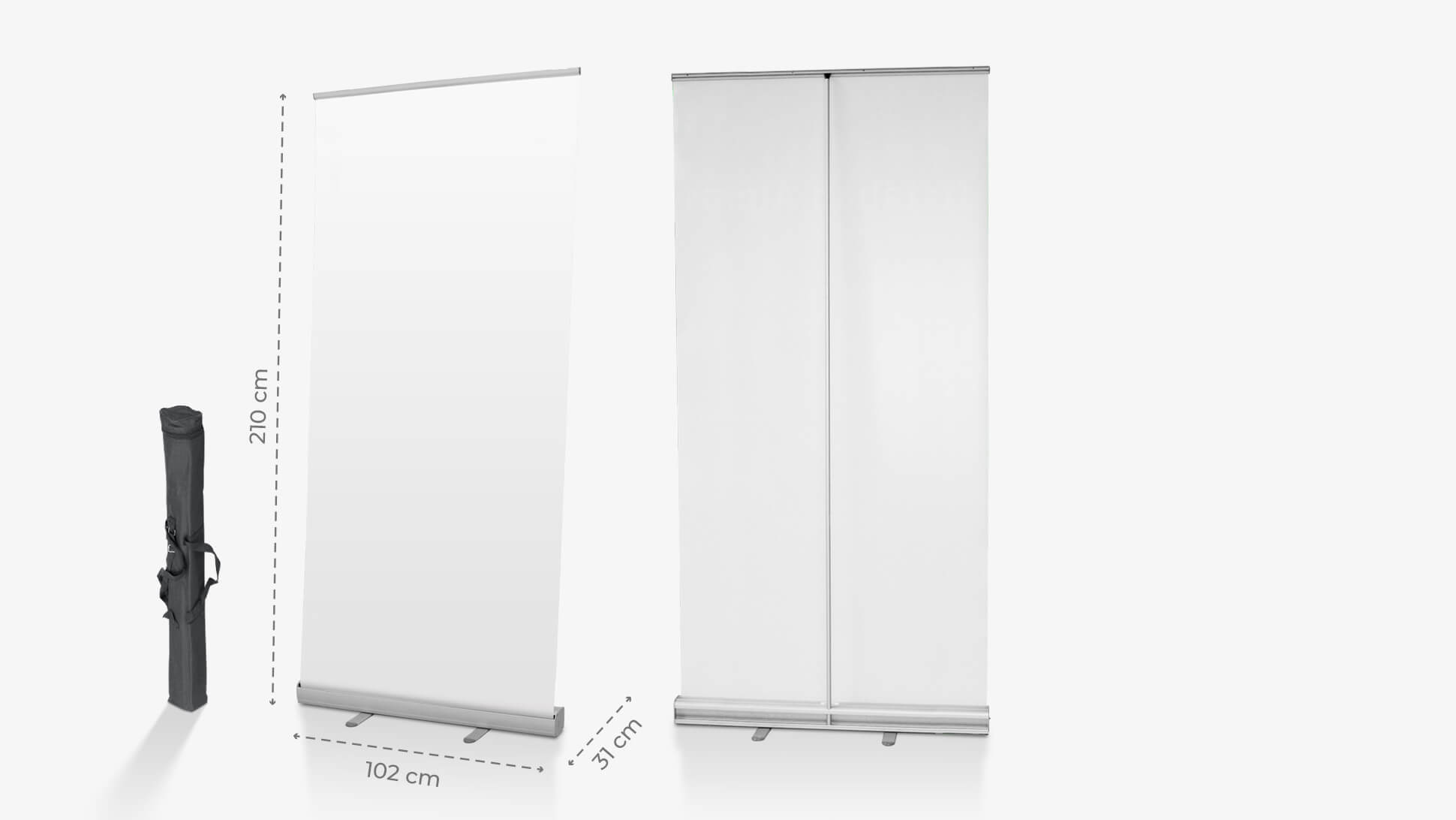 Rollup avvolgibile base 100 cm per allestimenti stand | tictac.it