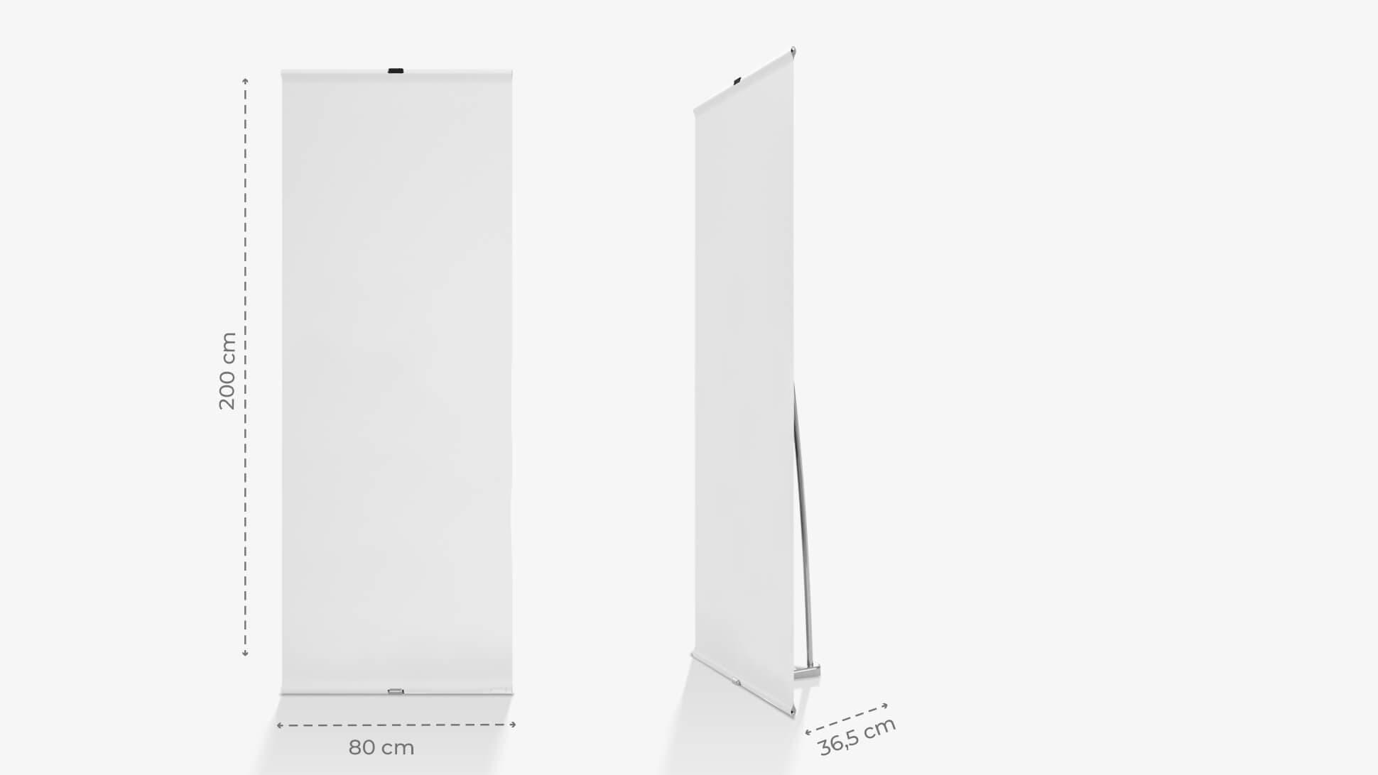 Espositore con struttura leggera in alluminio neutro | tictac.it