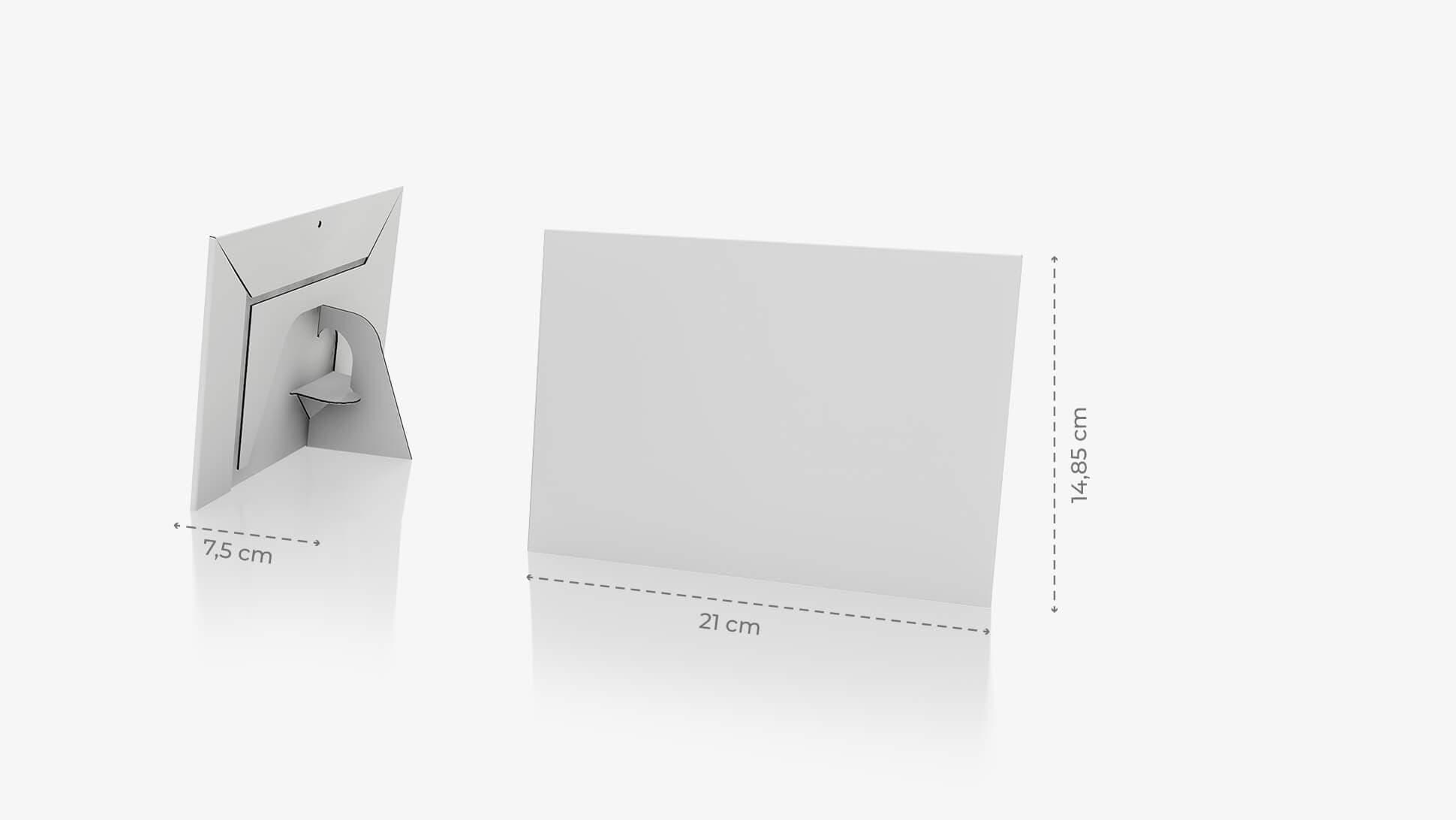 Display monofacciale A5 orizzontale grafica personalizzata | tictac.it
