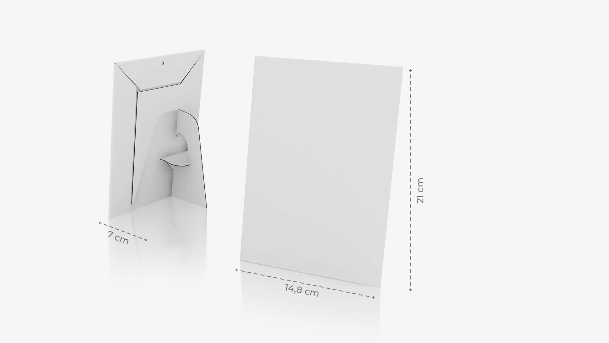 Display monofacciale A5 verticale grafica personalizzata   tictac.it