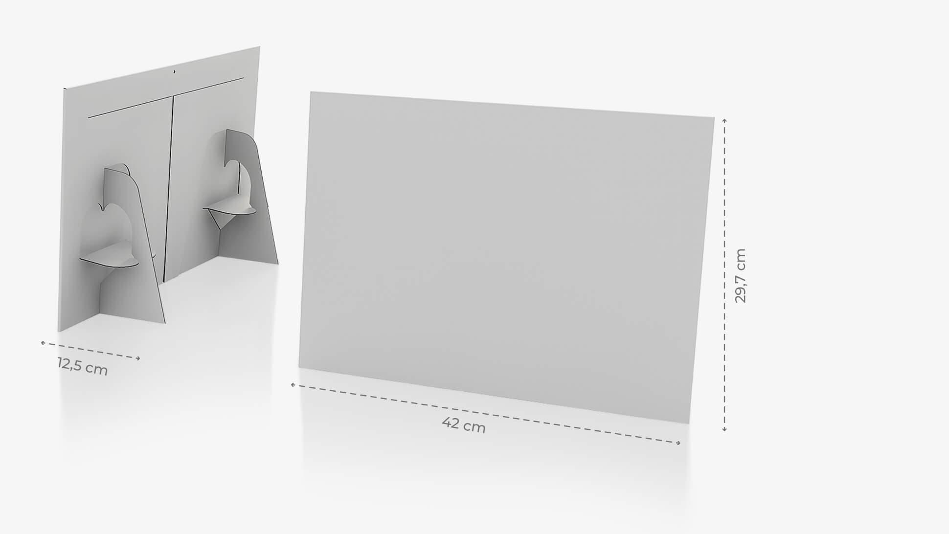 Display monofacciale A3 orizzontale grafica personalizzata | tictac.it
