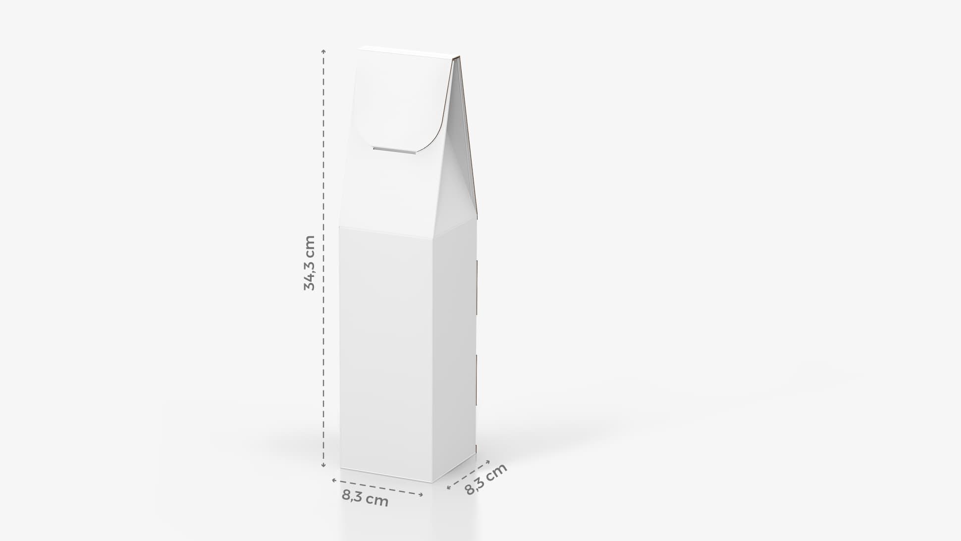 Scatola per bottiglia di vino 8,3x34,3 cm personalizzabile | tictac.it
