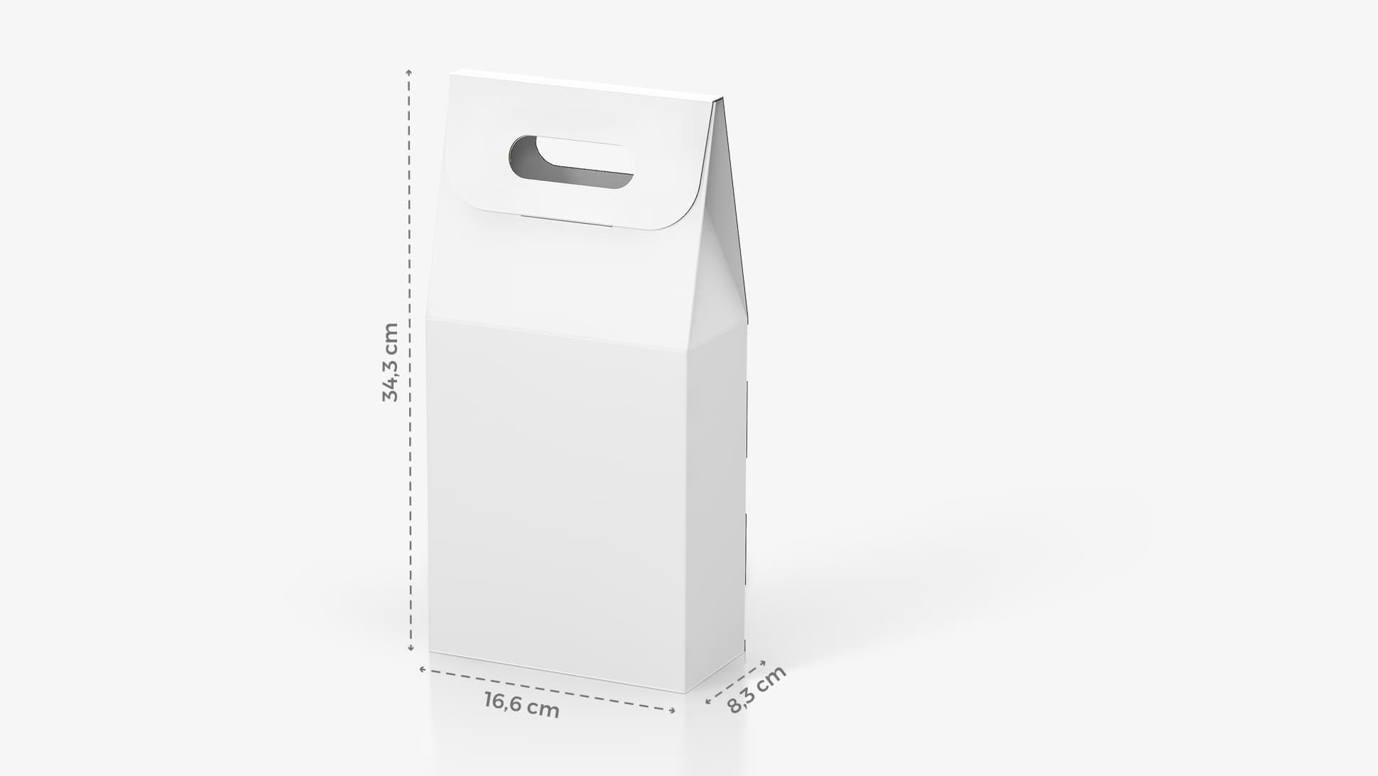 Scatola per bottiglia di vino 16,6x34,3 cm personalizzabile | tictac.it