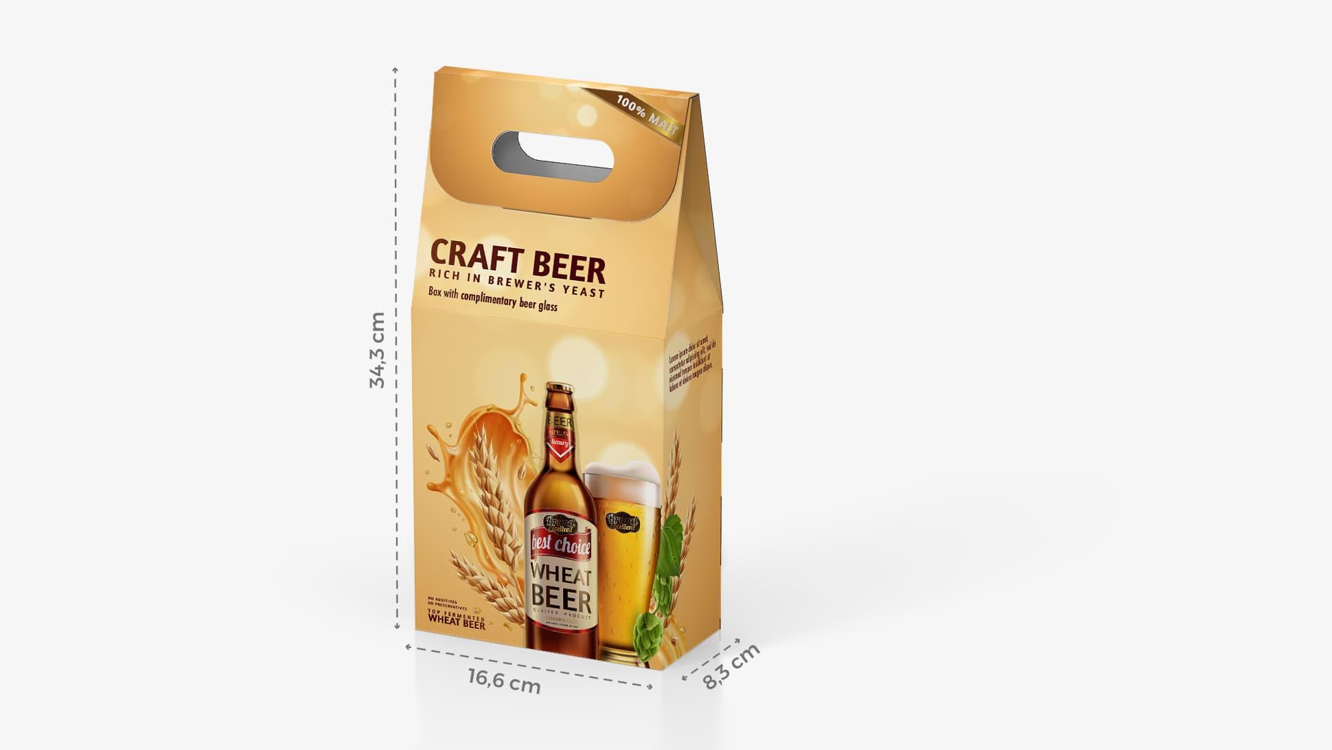 Scatola per bottiglia di birra 16,6x34,3 cm | tictac.it