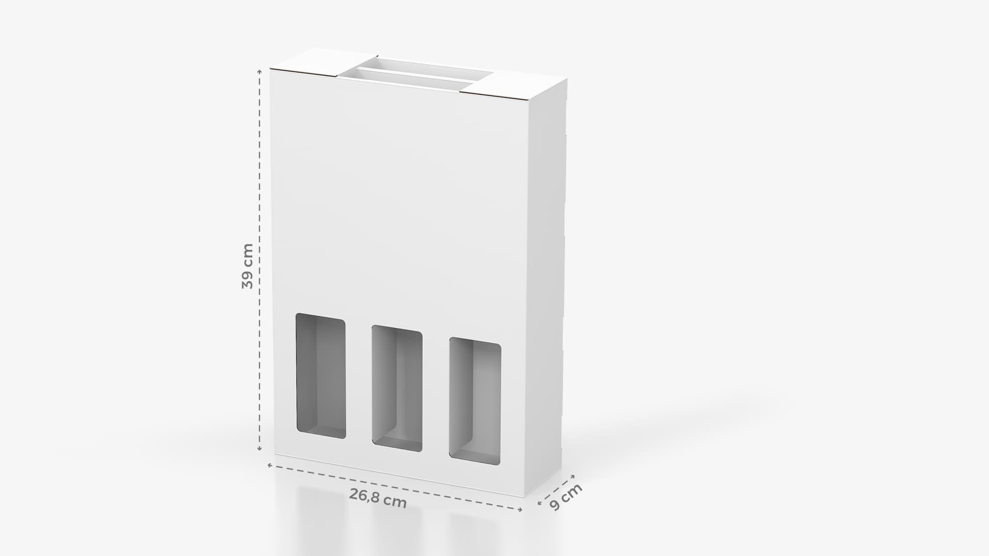 Portabottiglie in cartone 26,8x39 cm personalizzabile | tictac.it